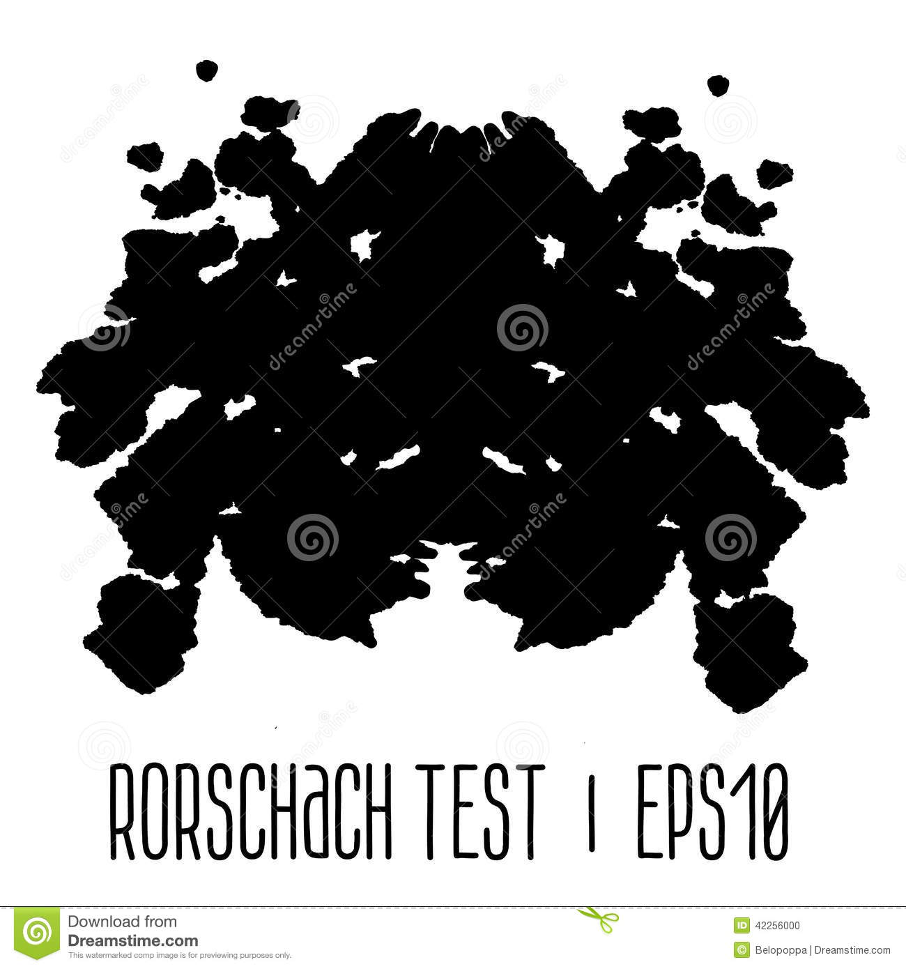 Rorschach Inkblot Test Illustration Stock Vector