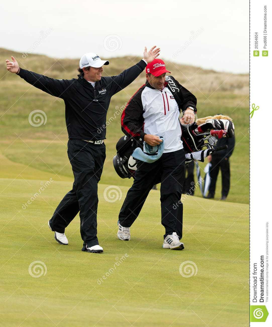 Rory Mcilroy celebrates at the 2011 open