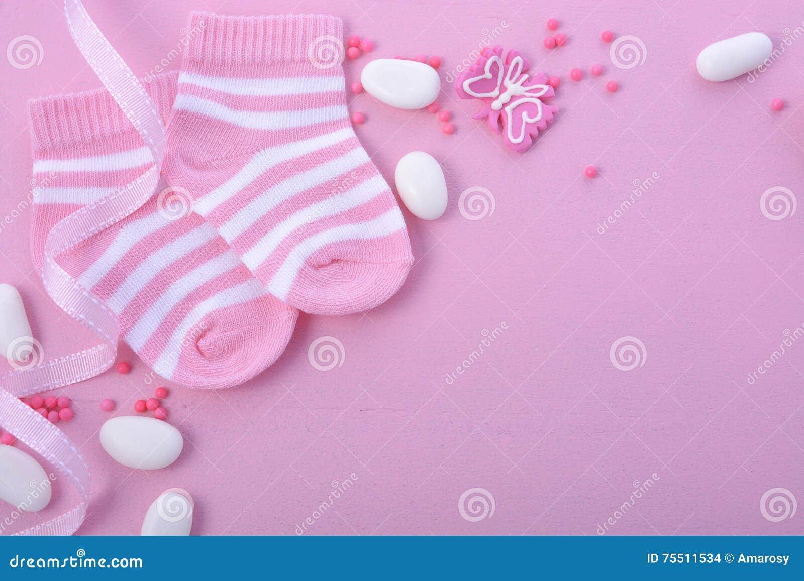 Rosa baby showerbarnkammarebakgrund