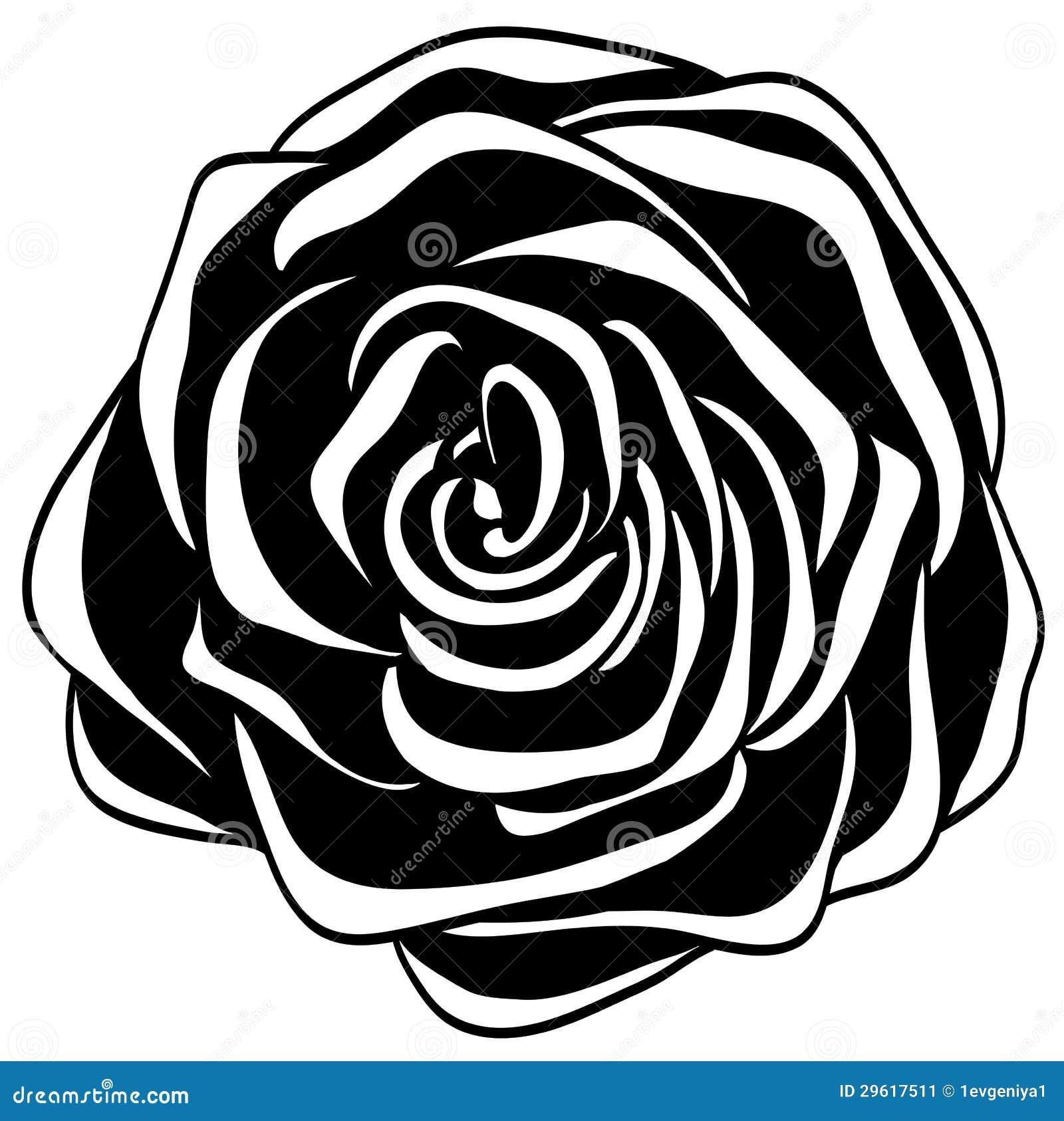 Rosa Blanco Y Negro Abstracta Ilustración Del Vector Ilustración