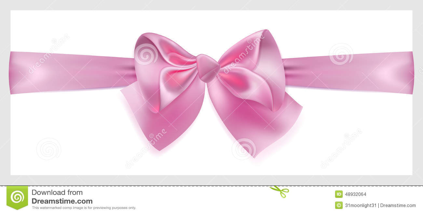 Rosa Bogen mit dem Band, horizontal gelegen