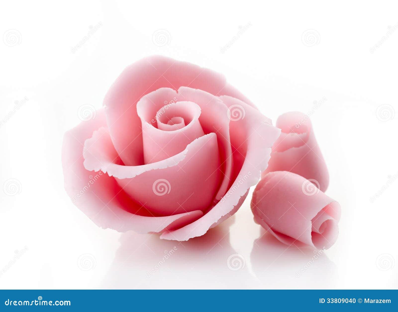 Rosa dekorativt socker steg