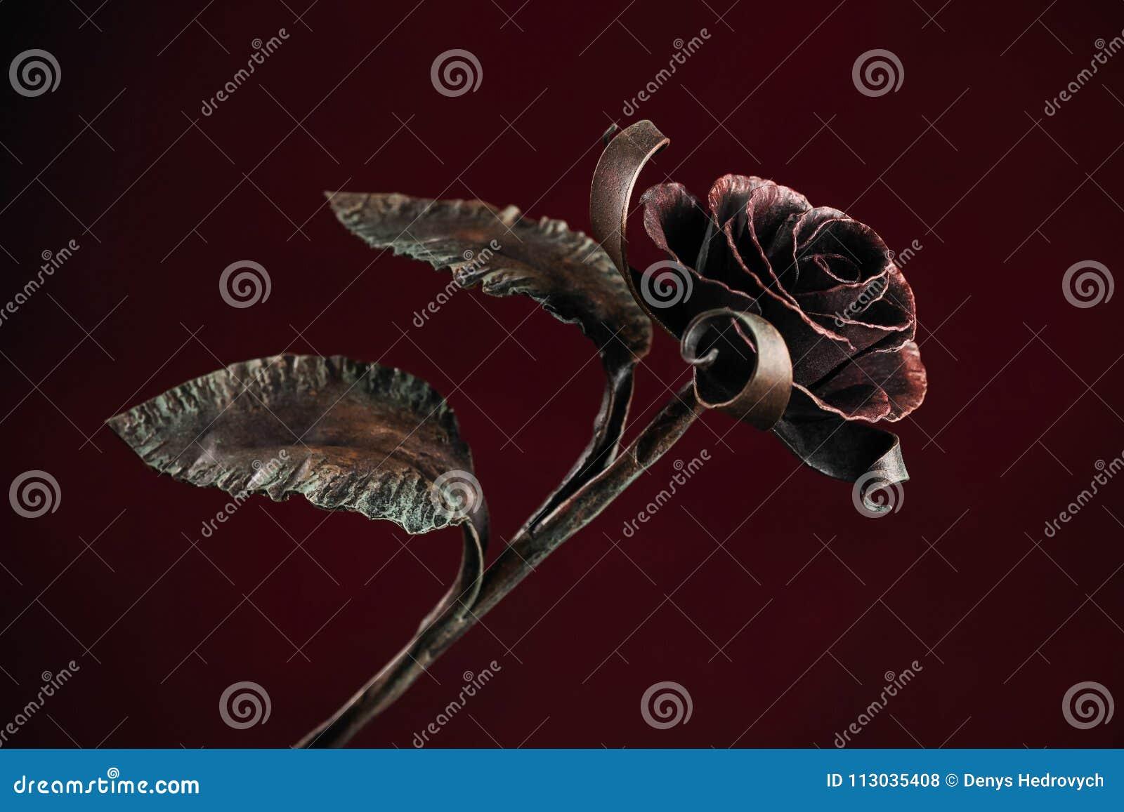 Rosa del rojo en fondo rojo oscuro