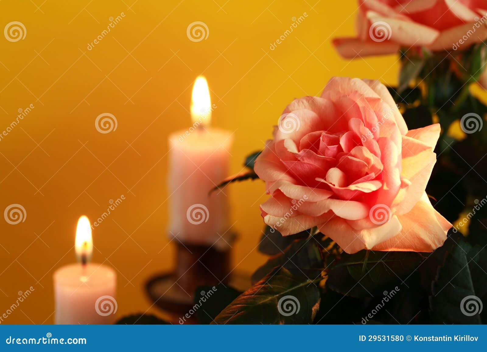 Rosa e velas
