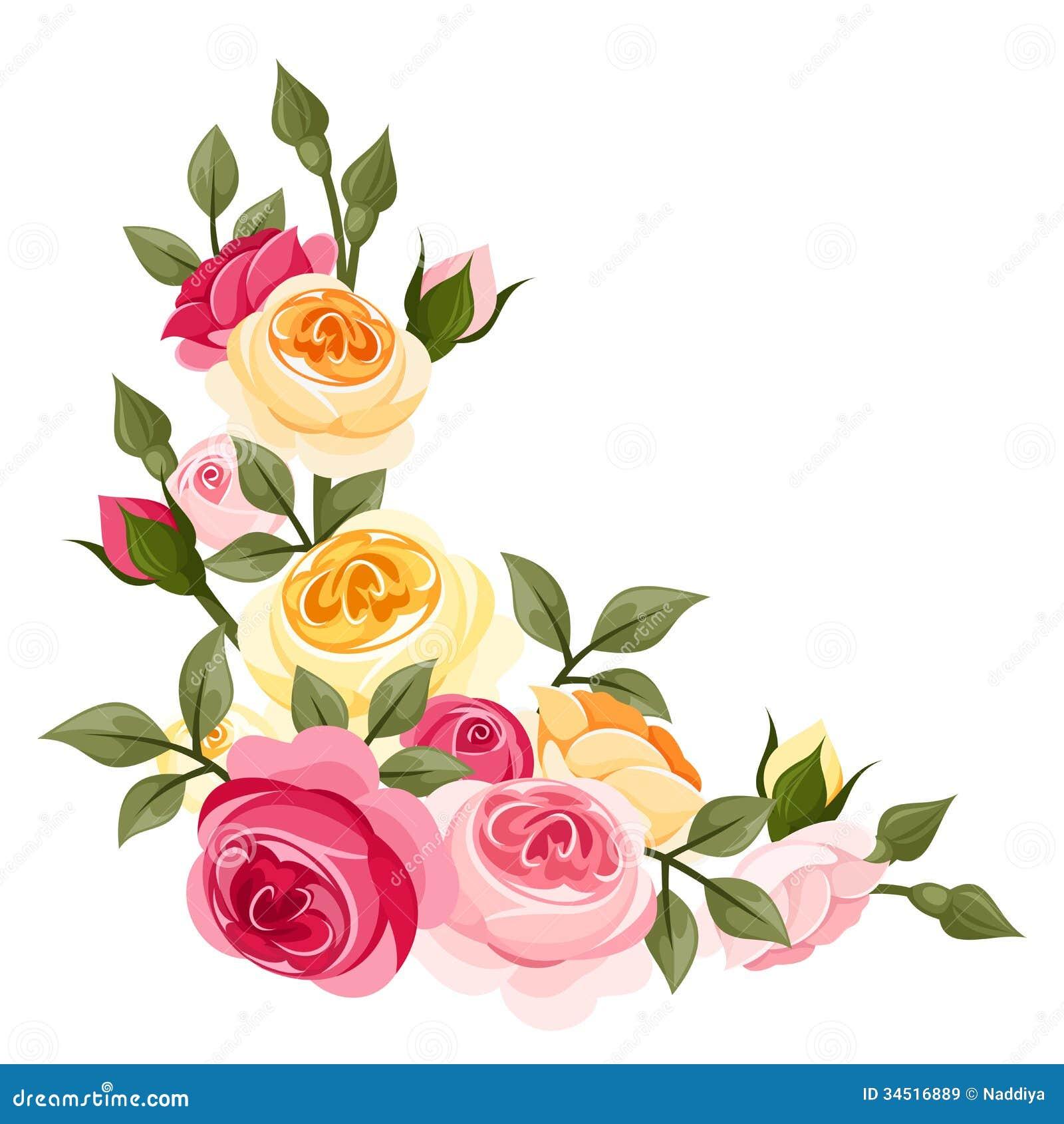 Rosa färg- och gulingtappningrosor.