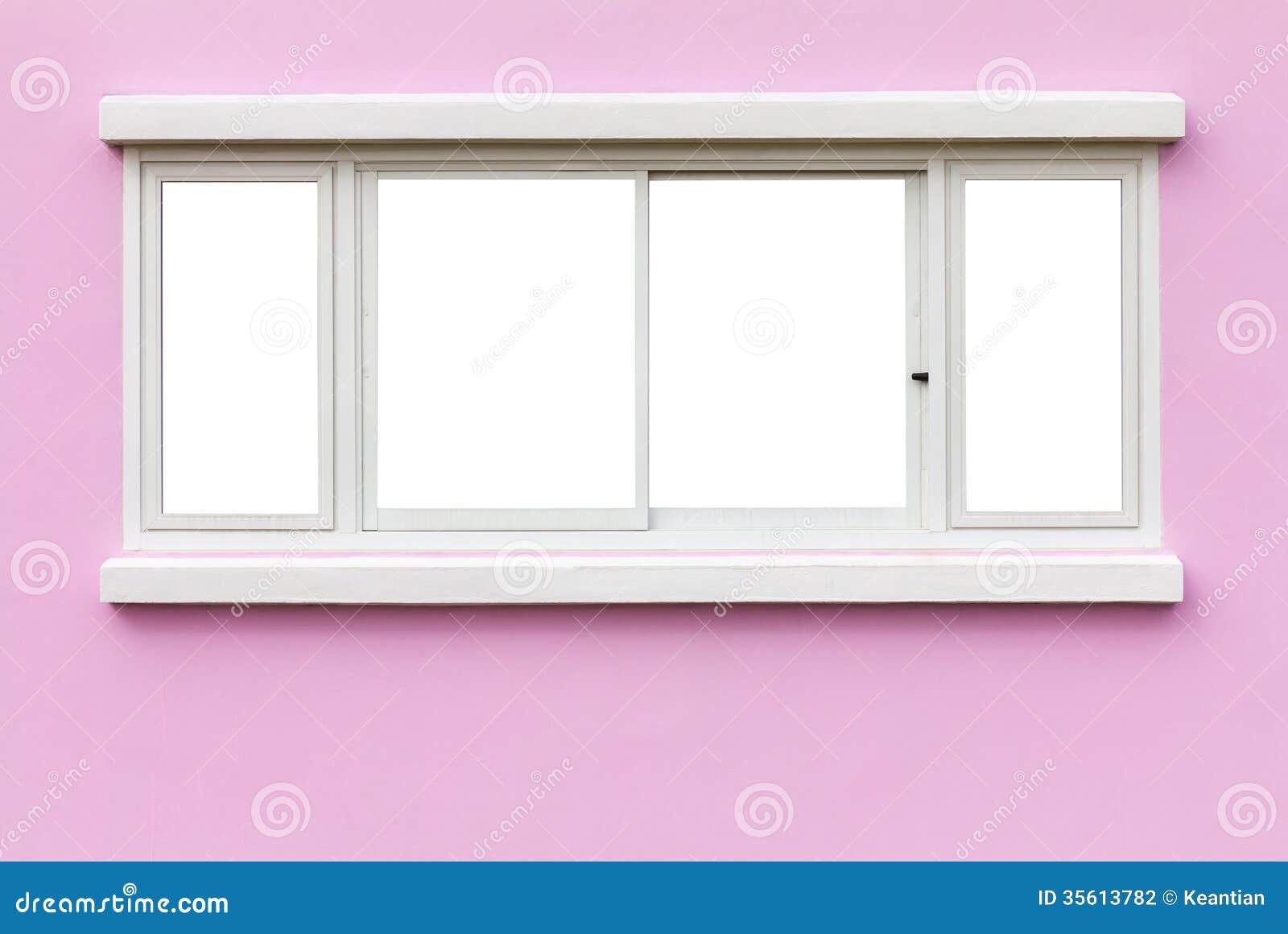 Rosa färger för vägg för fönsterram