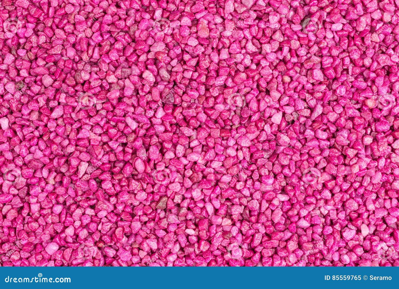 Rosa färger stenar granulate