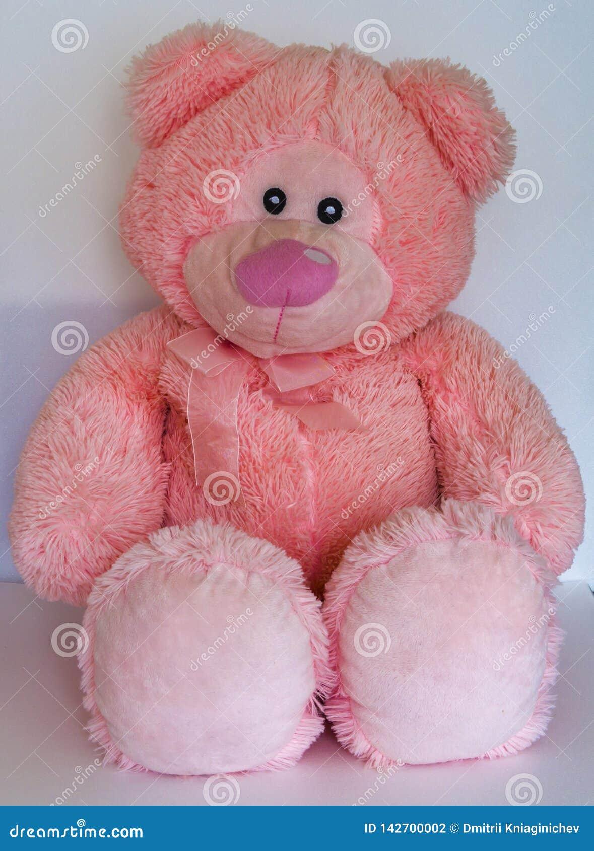 Rosa f?rgbj?rn slapp toy P