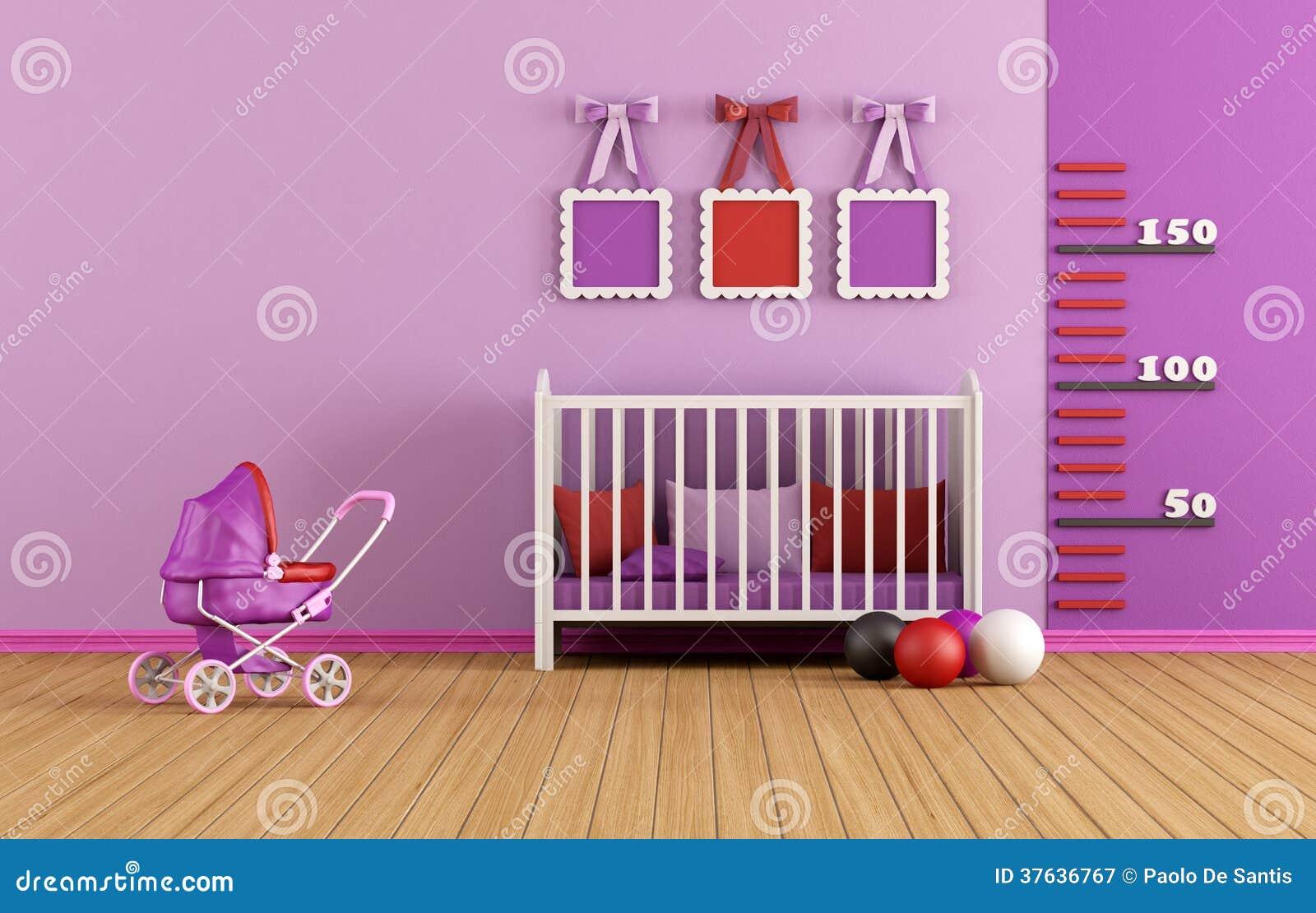 Rosa färger behandla som ett barn rum royaltyfri fotografi   bild ...