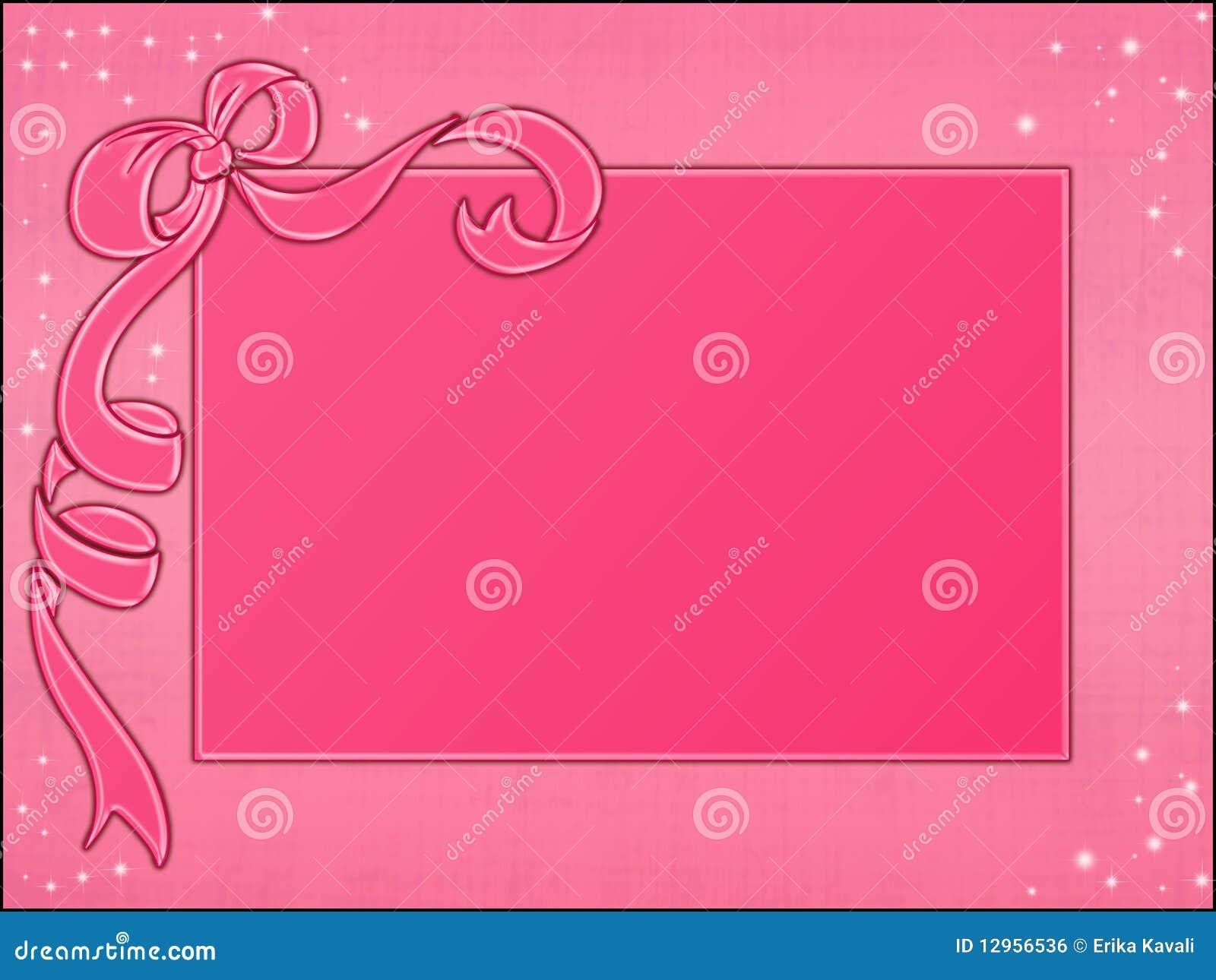Rosa gestaltet Schablone stock abbildung. Illustration von bogen ...