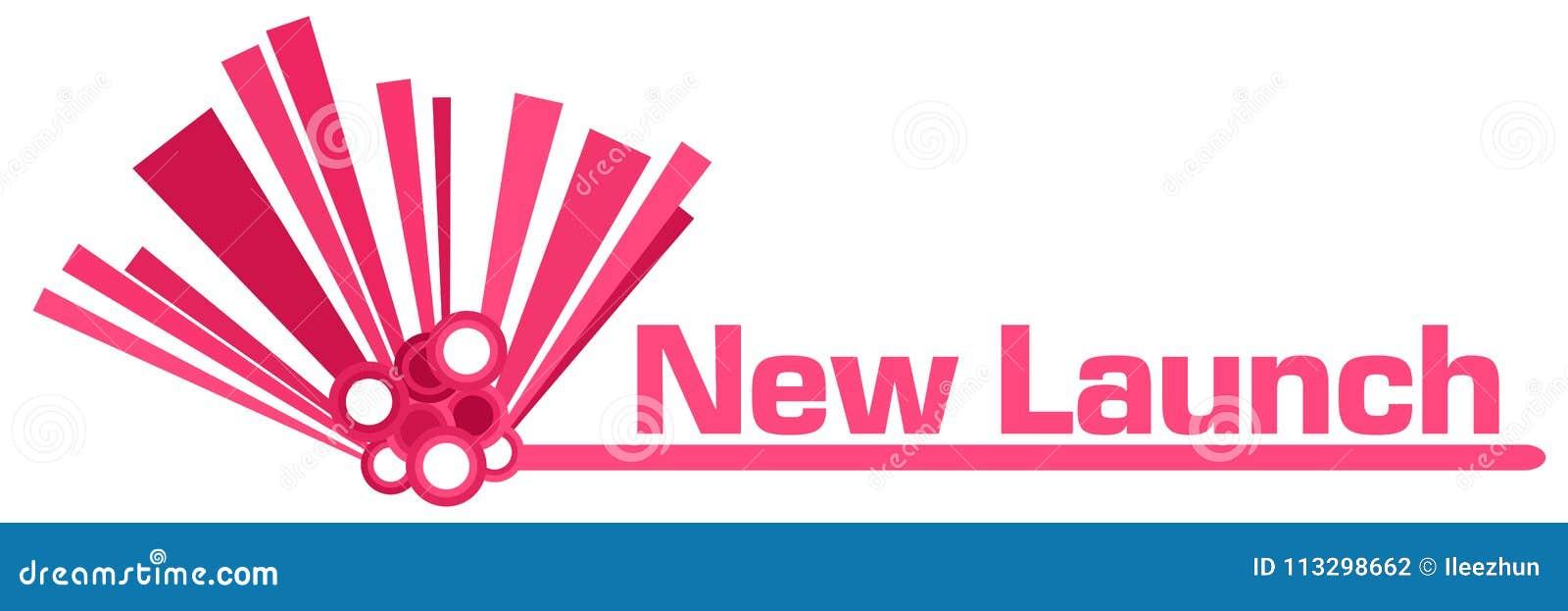 Rosa grafisk stång för ny lansering