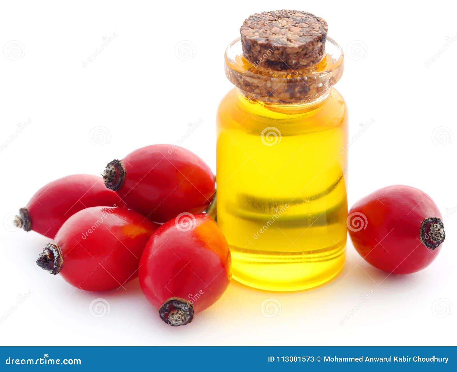 Rosa höfter med nödvändig olja