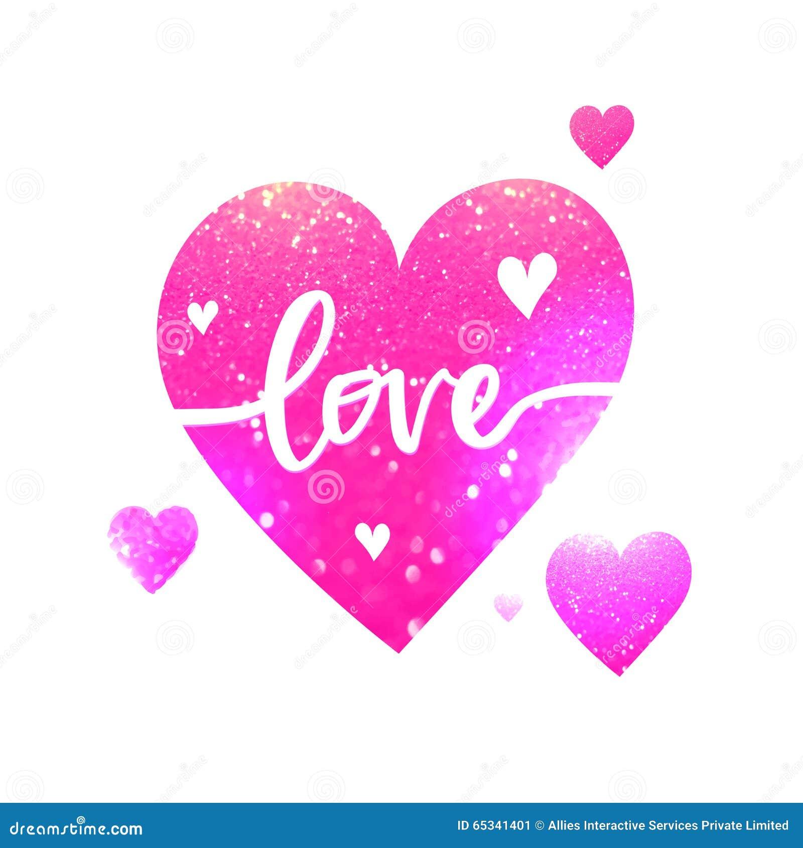 Schön Rosa Herz Mit Text Für Valentinstag