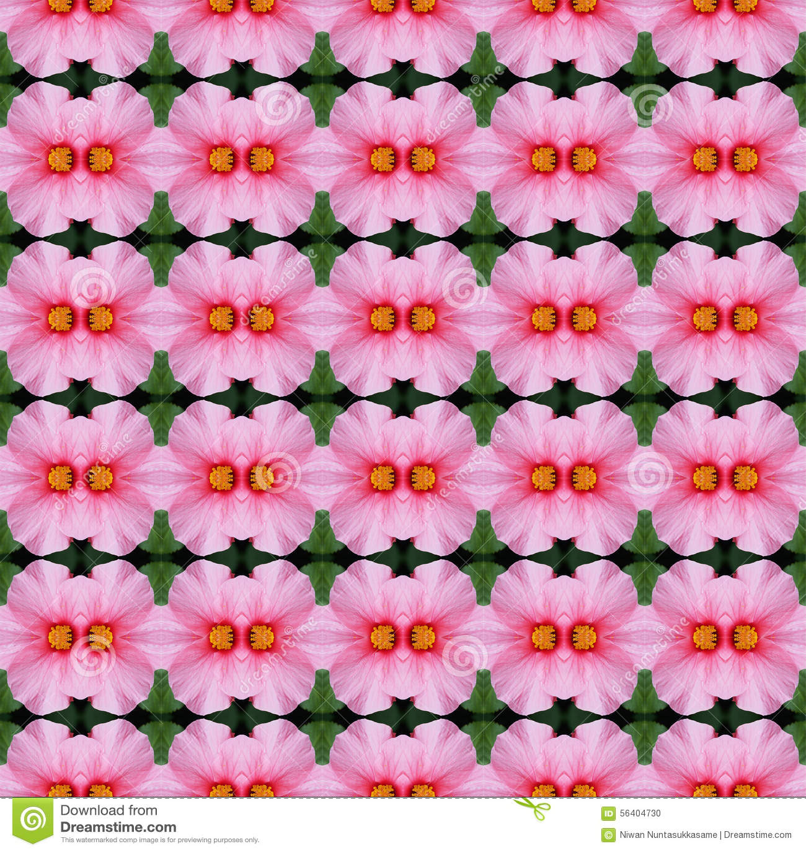 Rosa Hibiscusblume nahtlos