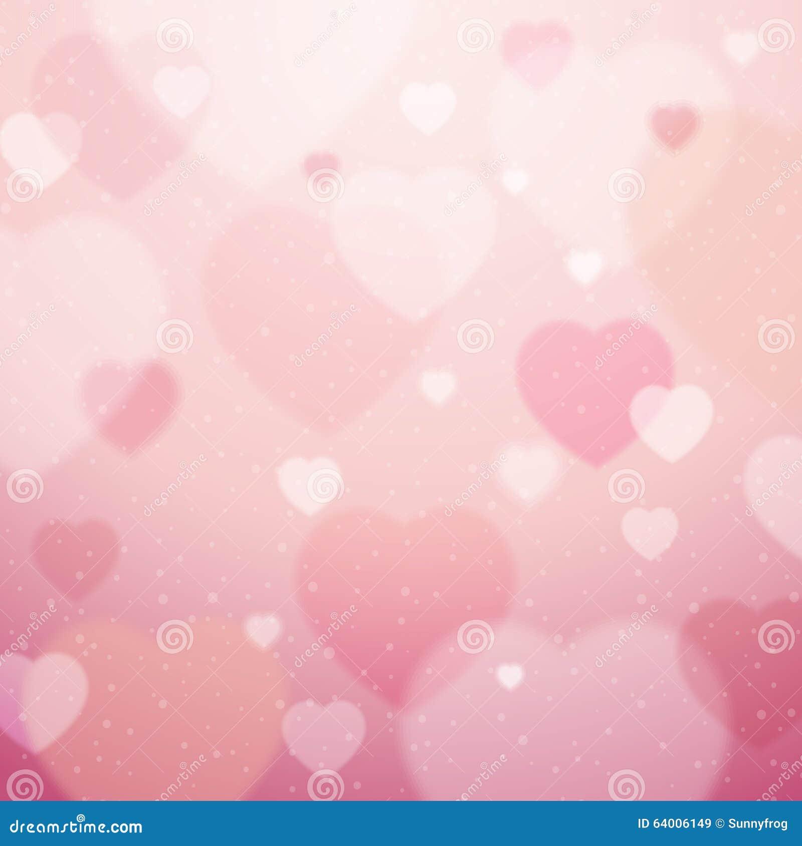 Rosa Hintergrund mit Valentinsgrußherzen, Vektor