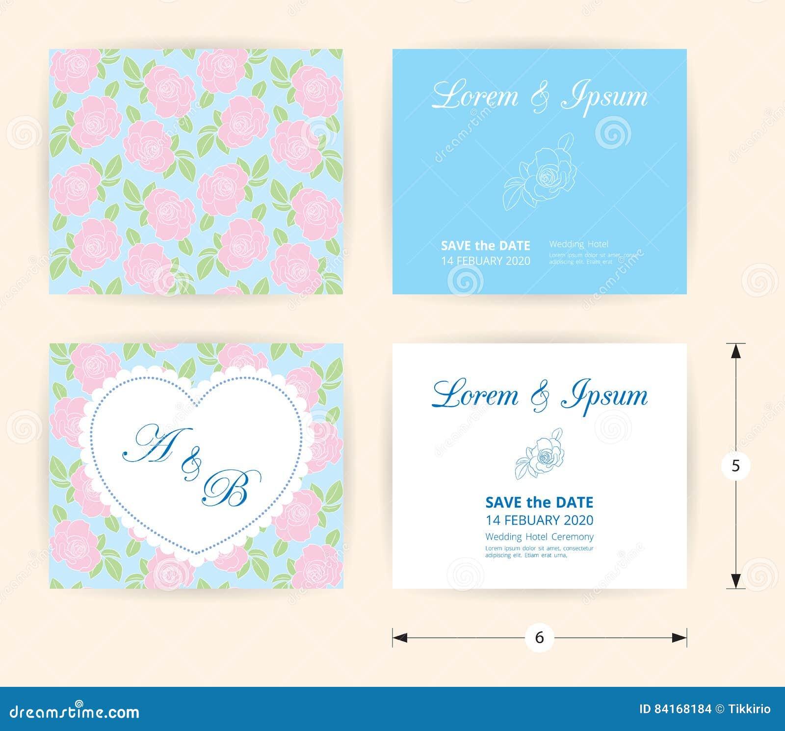 Rosa Hochzeitskarten Schablonenherzikone Weisser Namenaufkleber Auf
