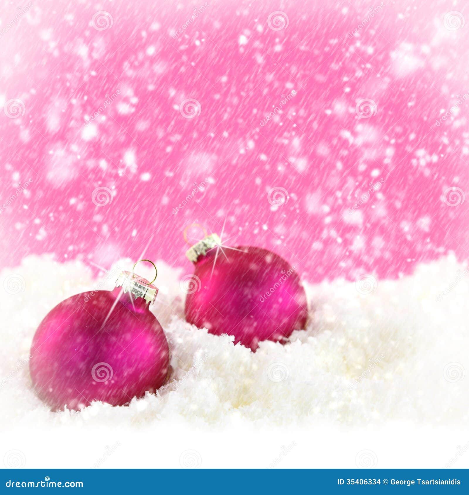 Rosa julbollar