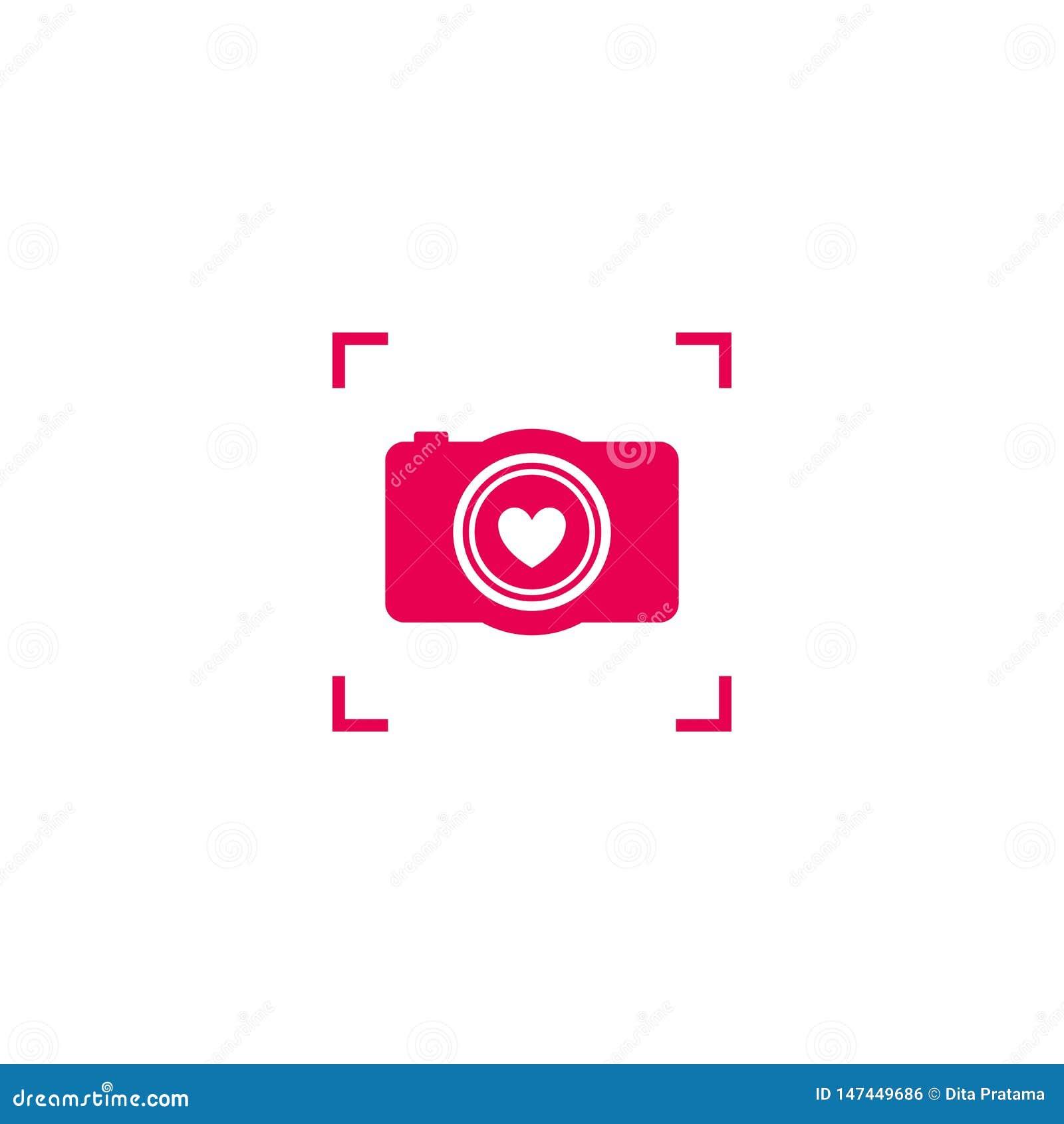 Rosa kameraförälskelselogo