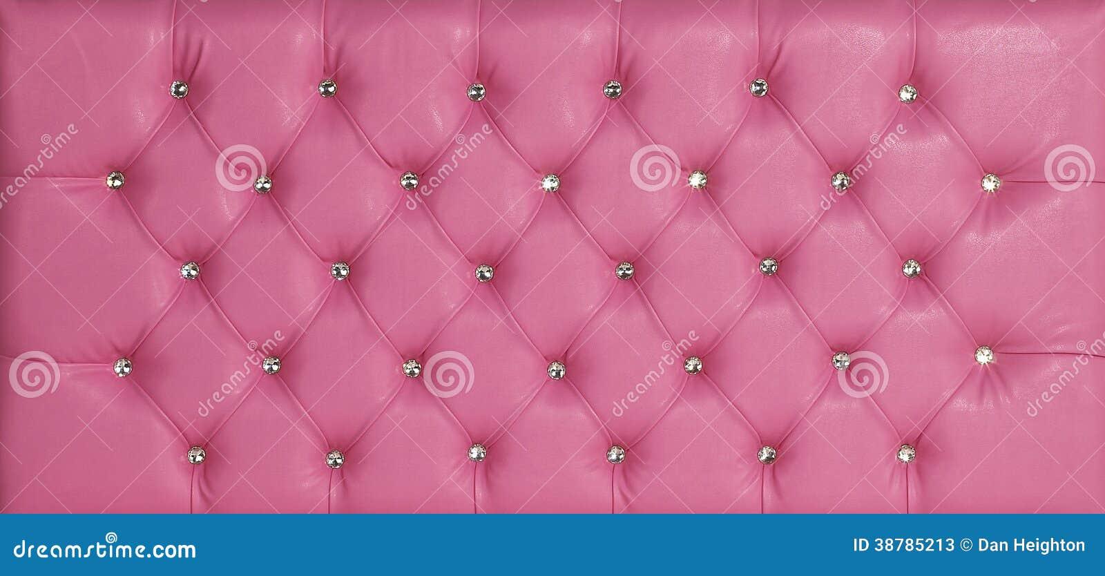 Rosa Lederner Luxusdiamant Verzierter Hintergrund Stockbild - Bild ...