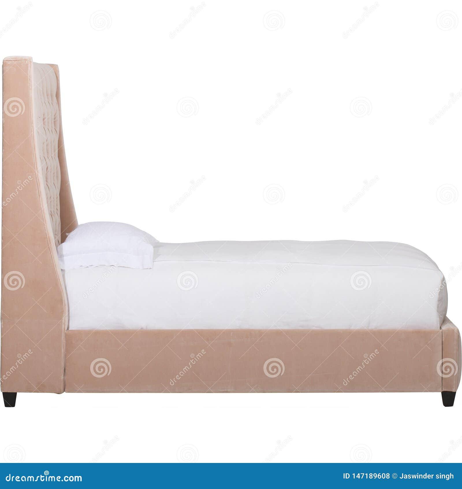 Rosa moderner Schlafzimmerinnenraum mit einem doppelten Diwanbett
