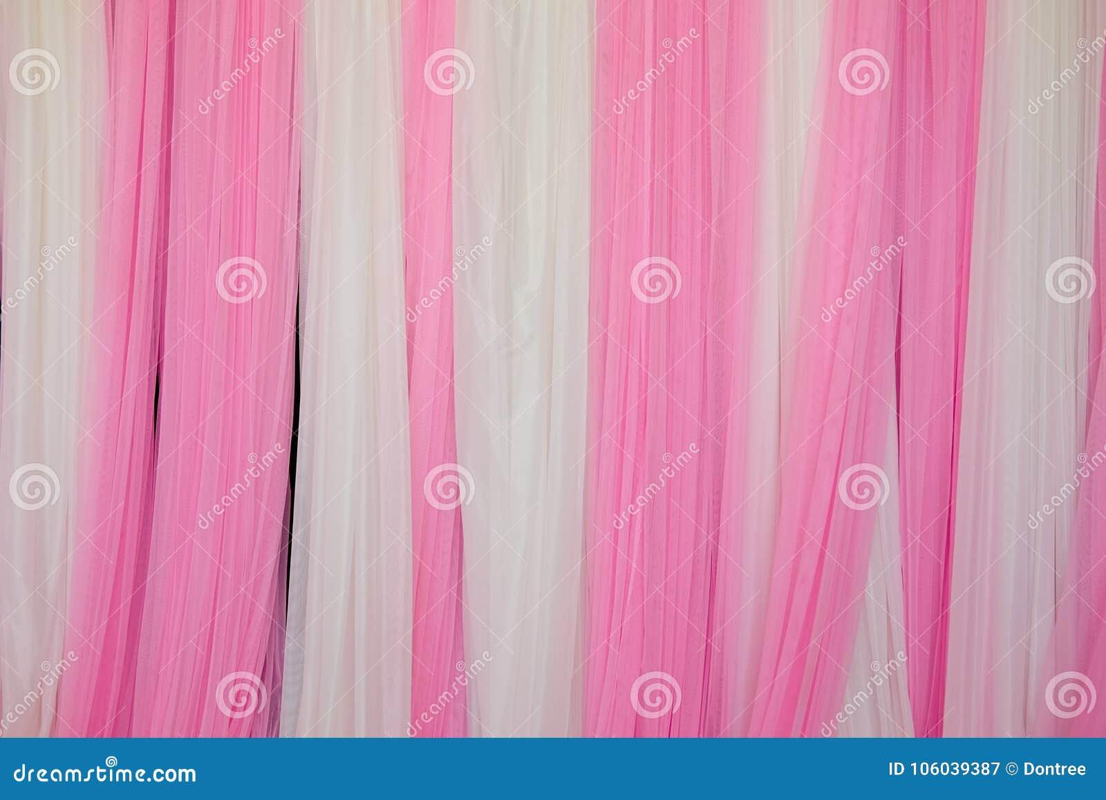 Rosa och vit tygbakgrund
