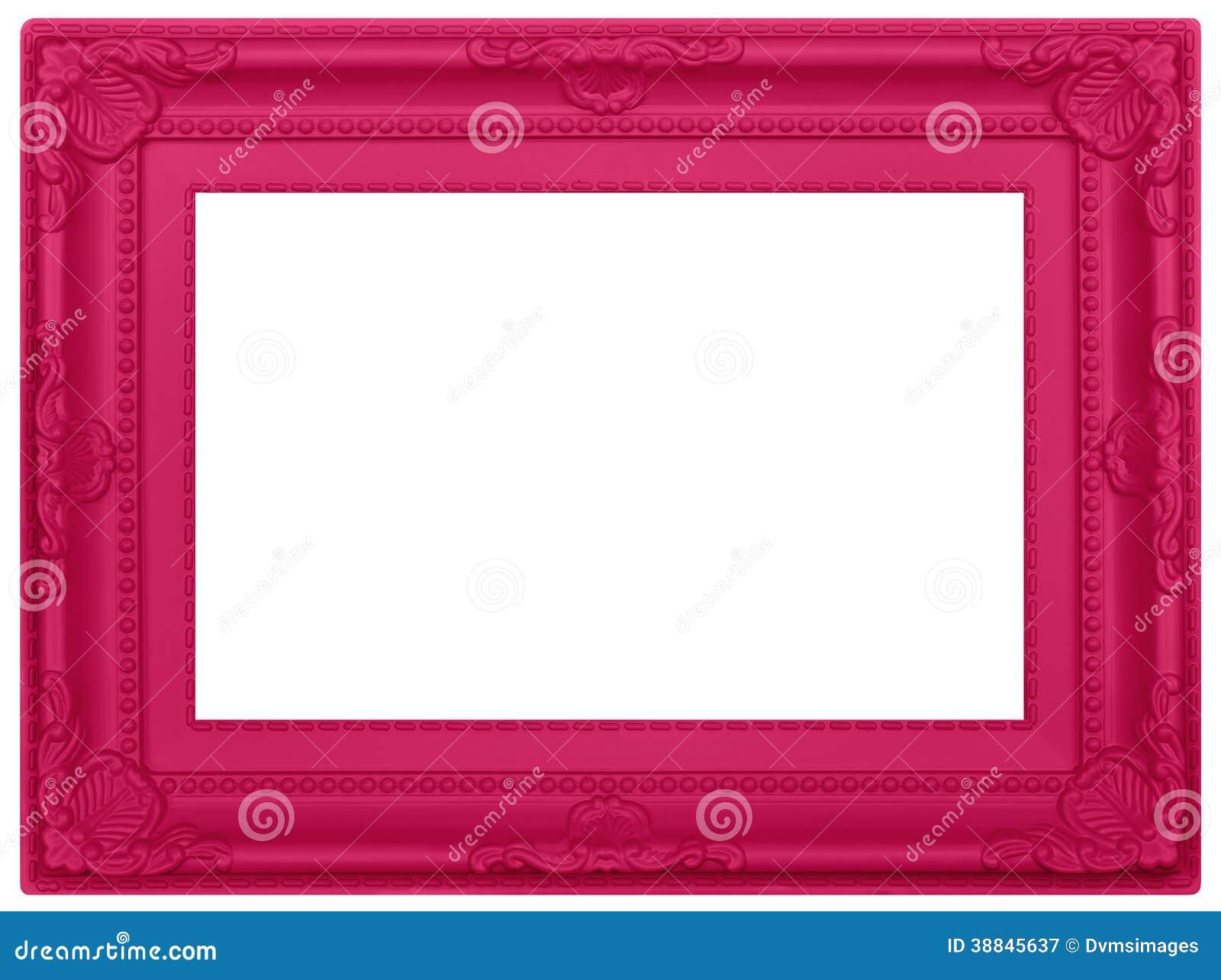 Rosa Plastikbilderrahmen stockbild. Bild von abbildung - 38845637