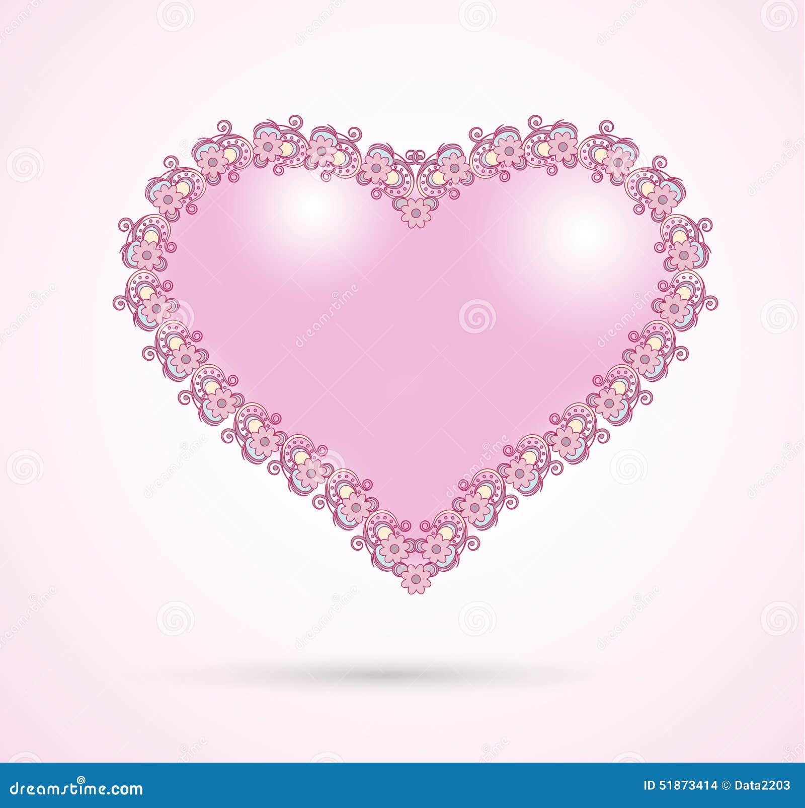 Rosa romantiker för hjärta