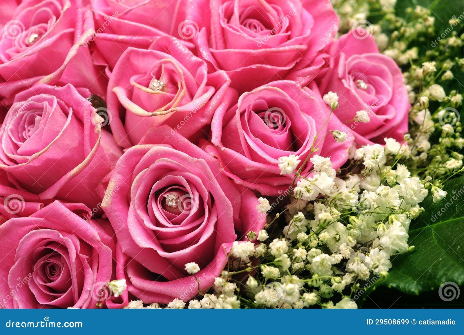 Rosa Rosen mit Funkeln