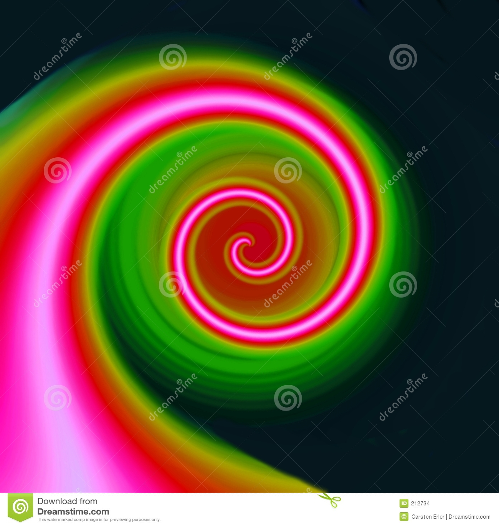 Rosa spiral för färg