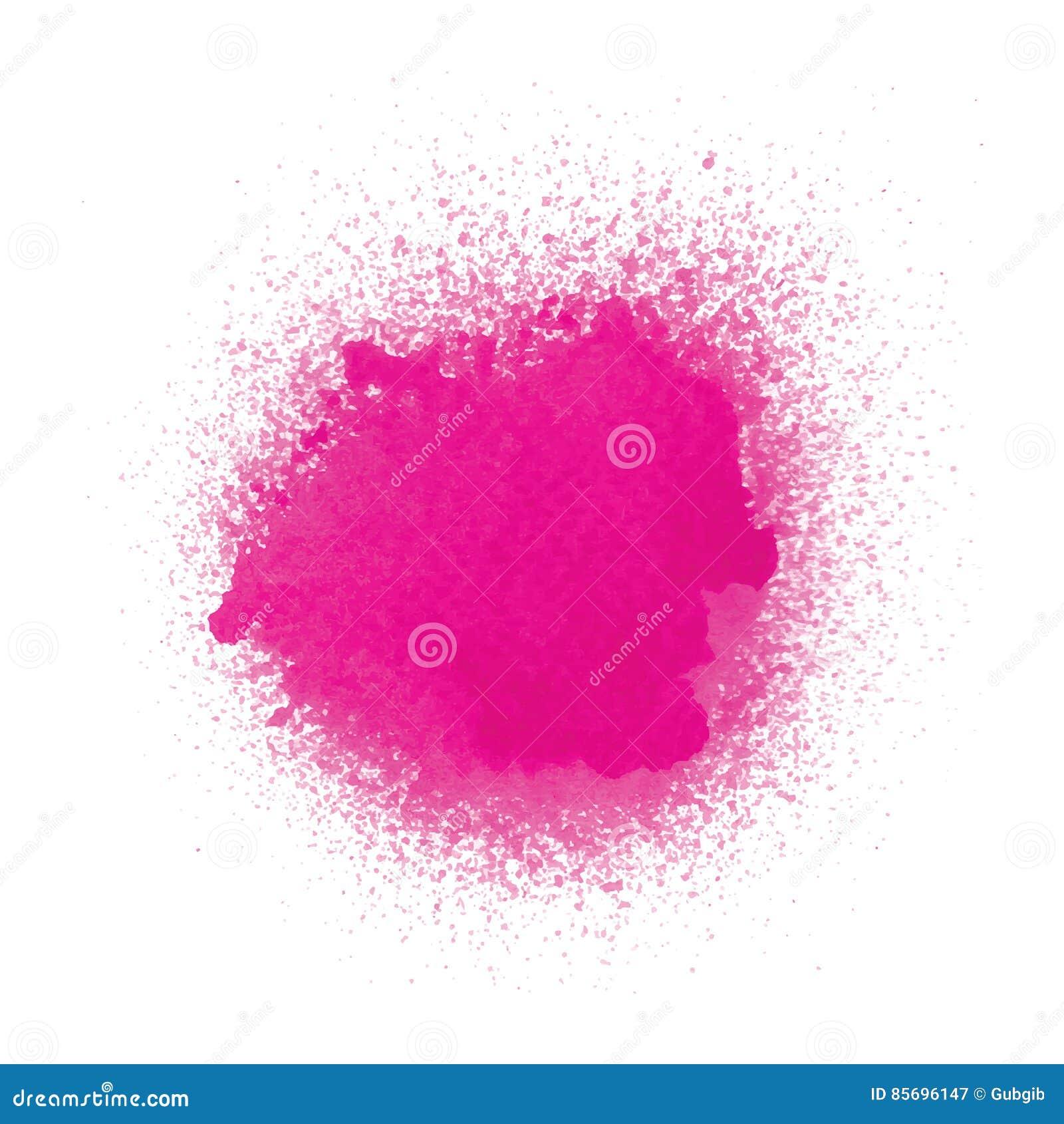 Rosa sprutmålningsfärg på vit bakgrund