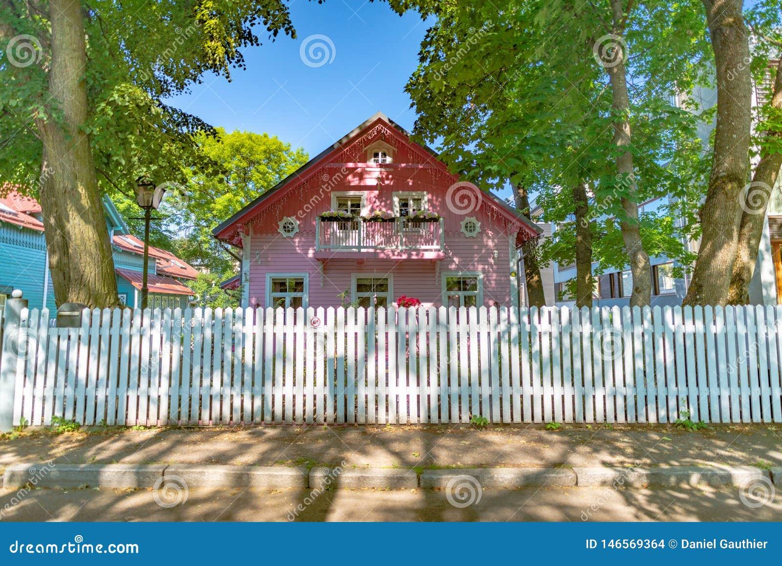 Rosa tr?hus n?ra Kadriorg slotttr?dg?rdar, Tallinn, Estland
