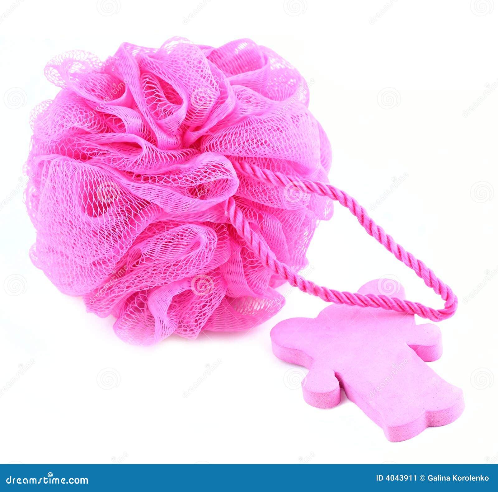 Rosa tvålsvamp för cake