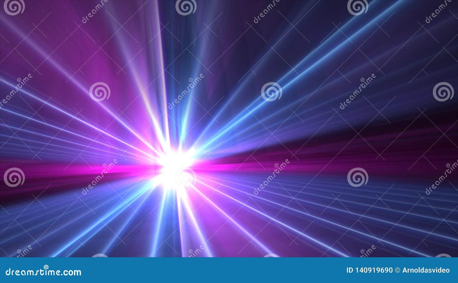 Rosa vago variopinto dell estratto e carta da parati del chiarore 4k di esplosione della stella blu