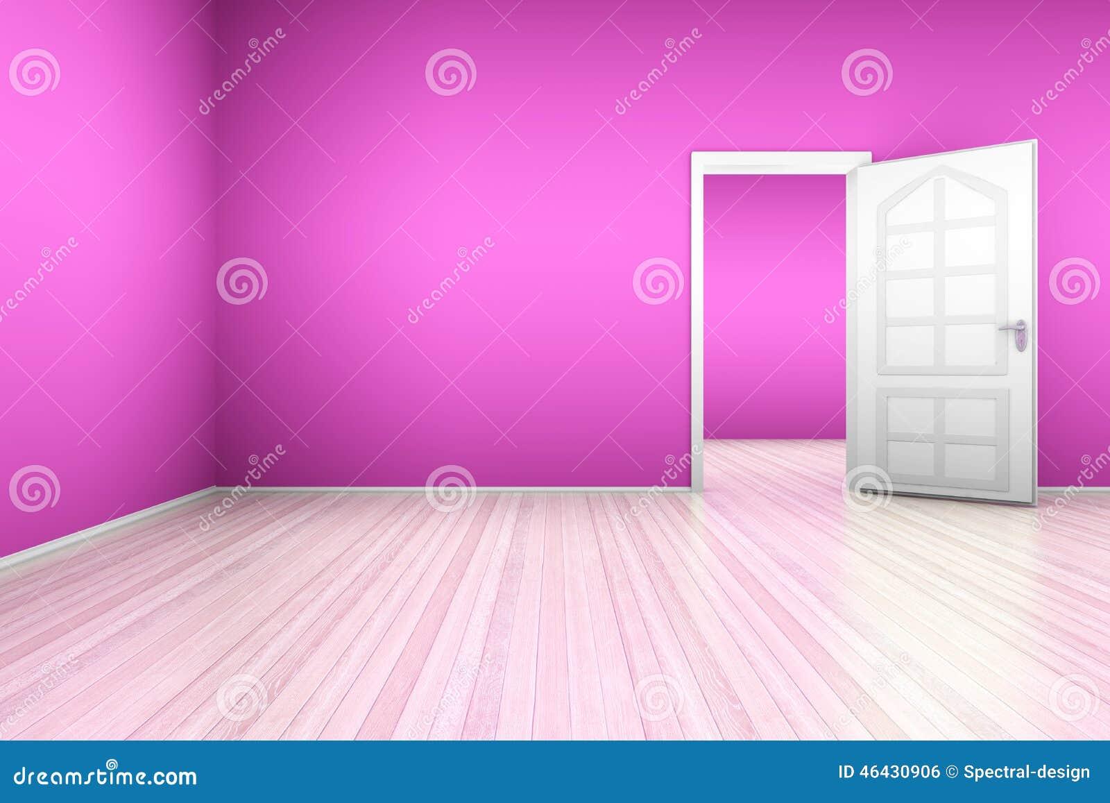 Rosa Wohnung Stock Abbildung - Bild: 46430906