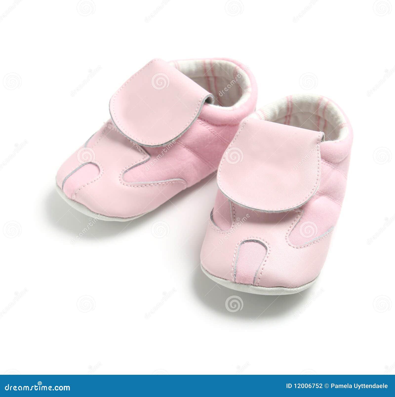 Rosafarbene Babyschuhe