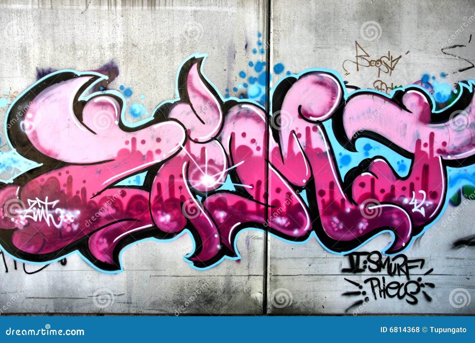 rosafarbene graffiti stockfoto bild von k nstlerisch 6814368. Black Bedroom Furniture Sets. Home Design Ideas