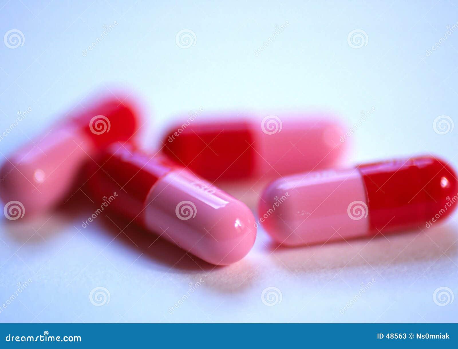 Rosafarbene Pillen