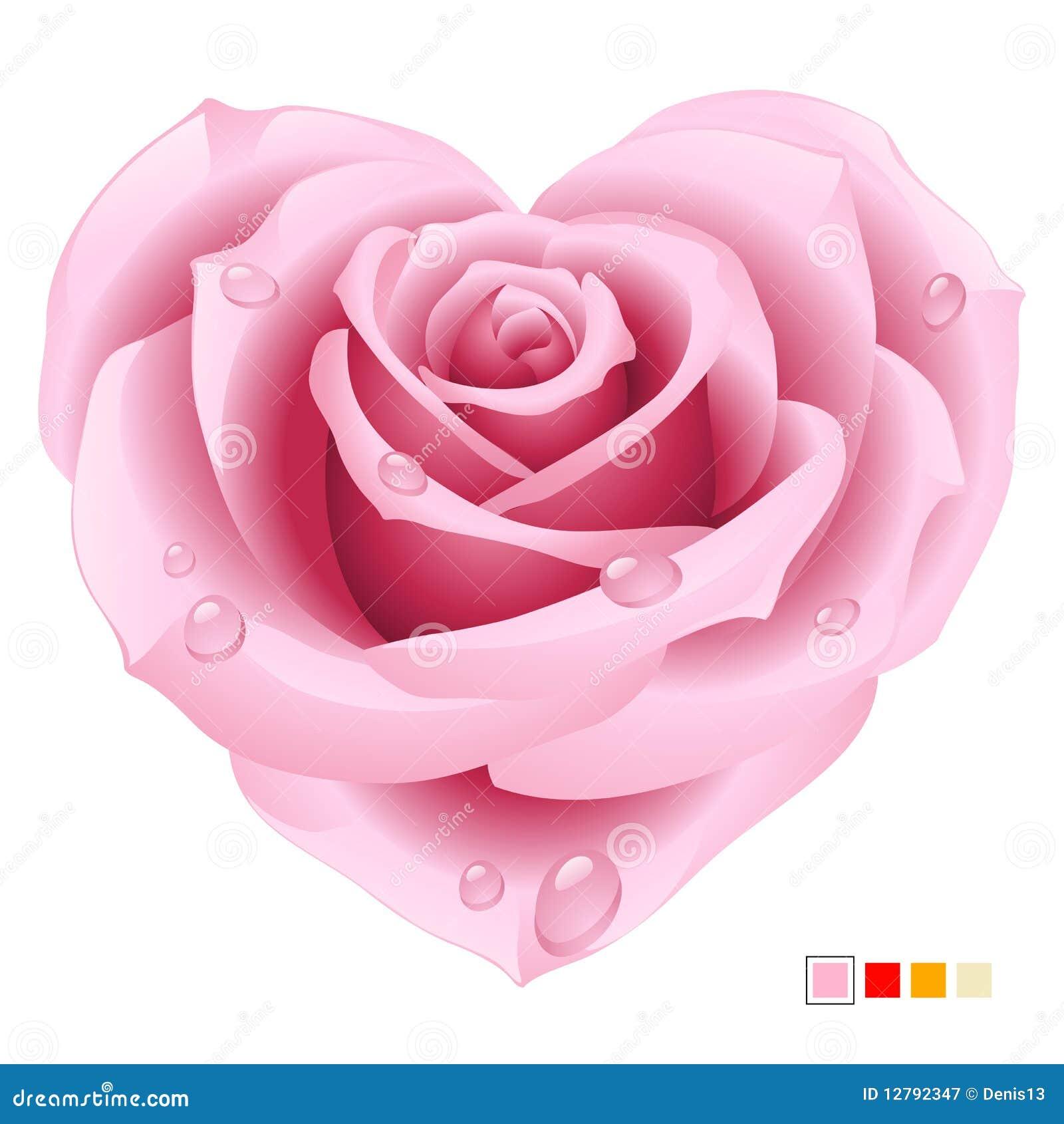 rosafarbene rose in der form des inneren vektor abbildung bild 12792347. Black Bedroom Furniture Sets. Home Design Ideas