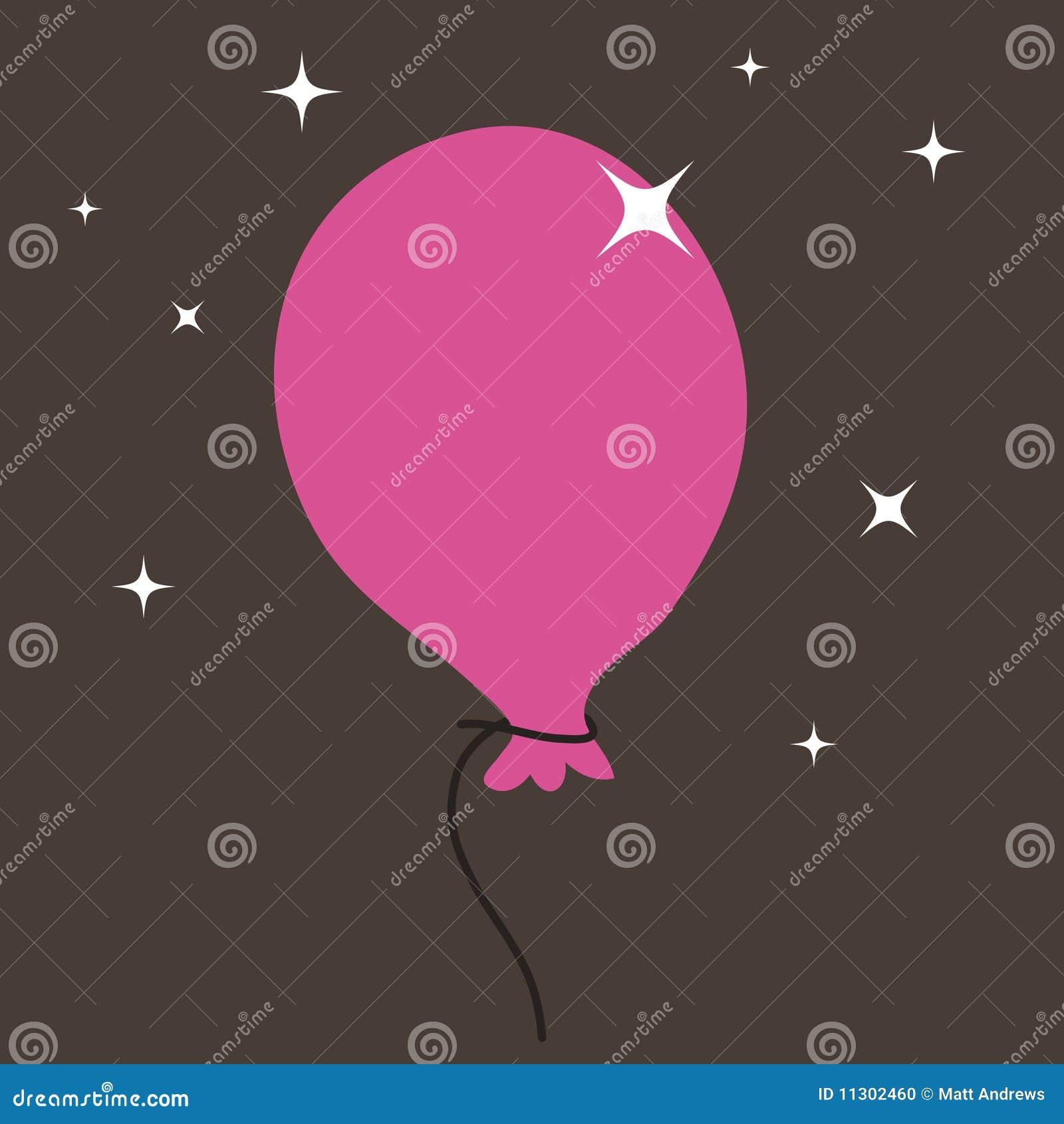 Rosafarbener Ballon