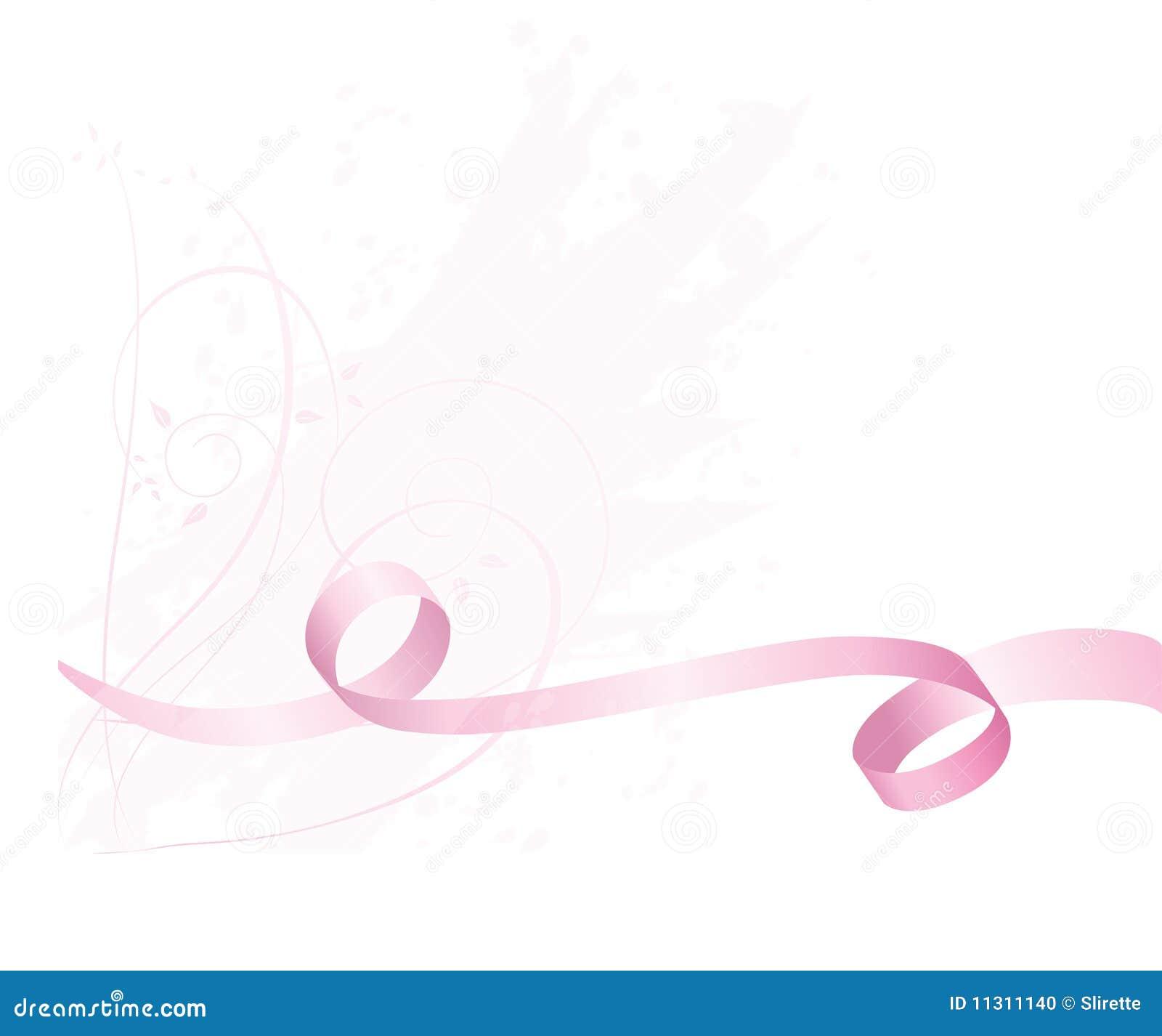 Rosafarbener Bewusstseinsfarbbandhintergrund für Brustkrebs