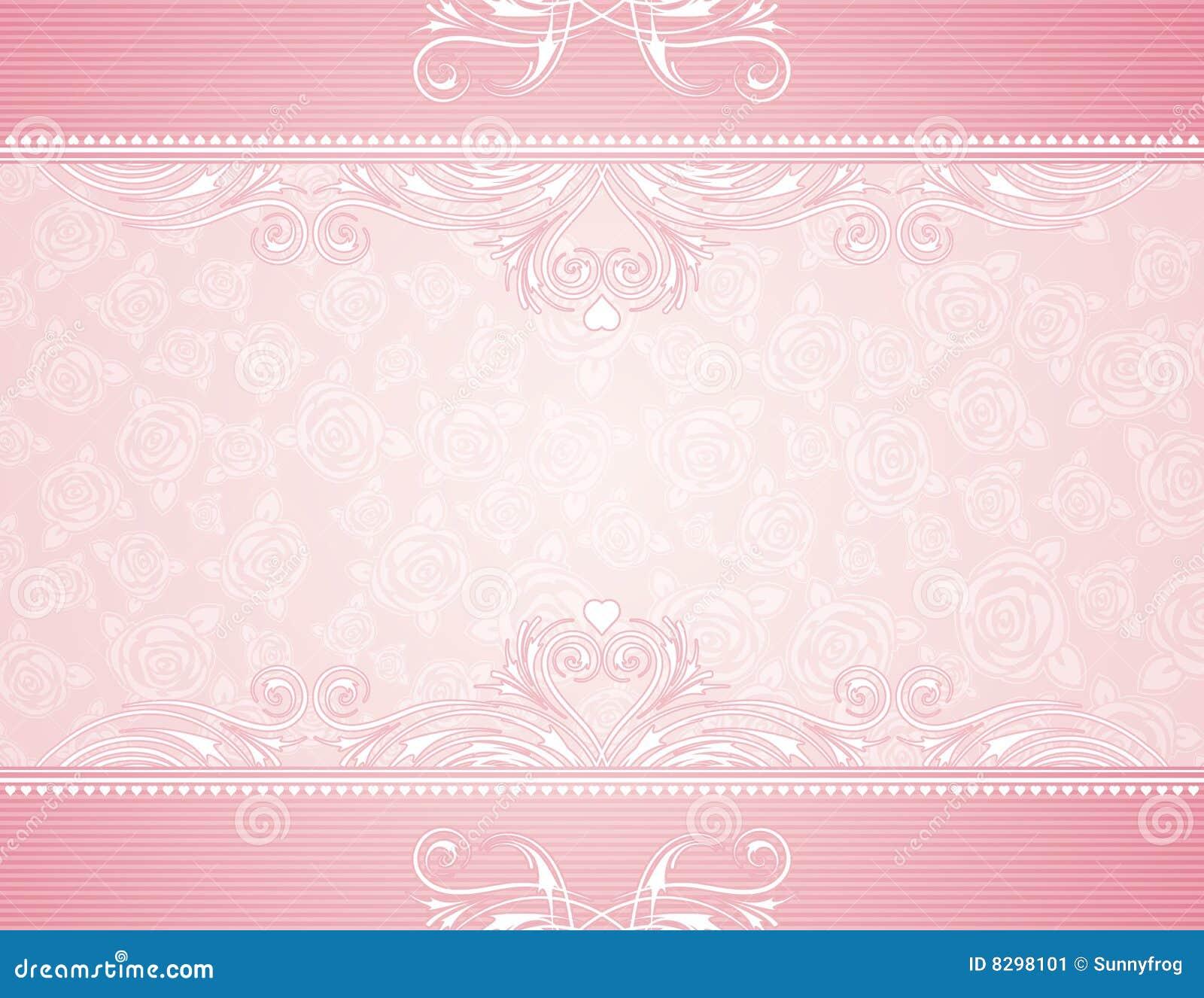 Rosafarbener Hintergrund mit Rosen