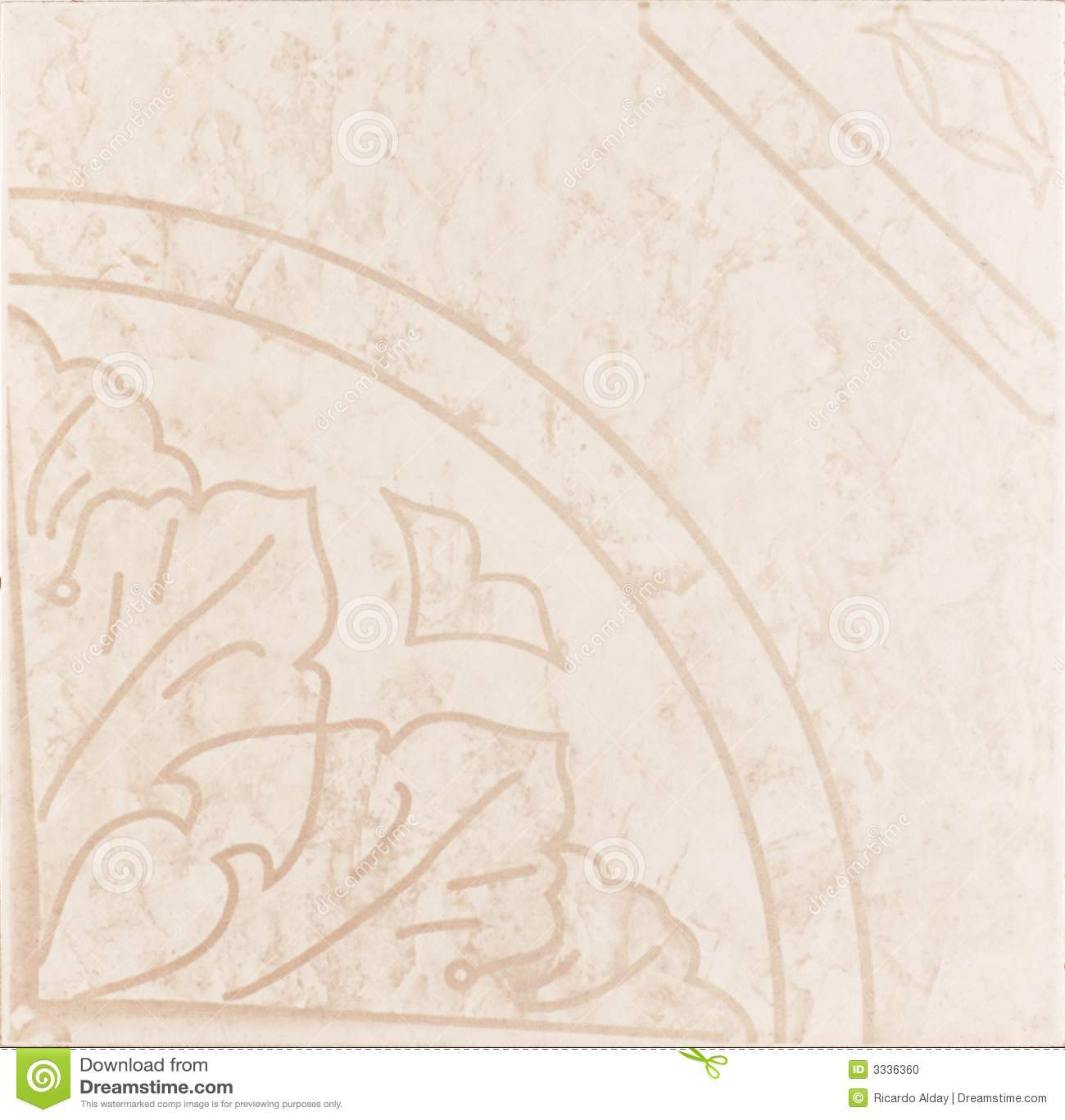 Rosafarbener Keramikziegel