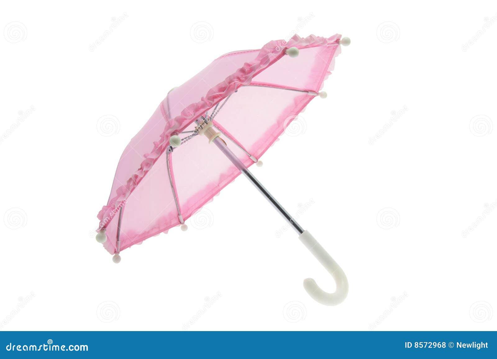 Rosafarbener Regenschirm