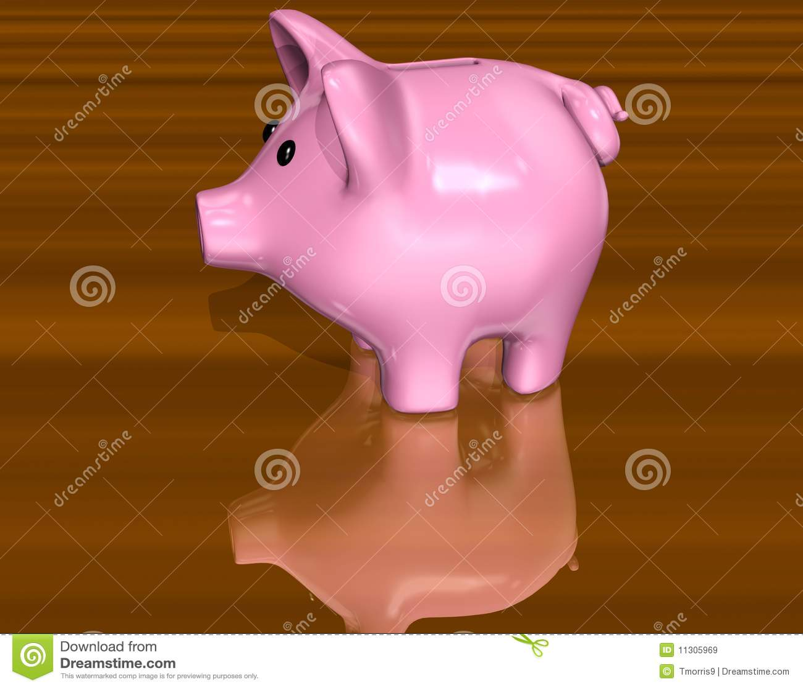Rosafarbenes Piggy