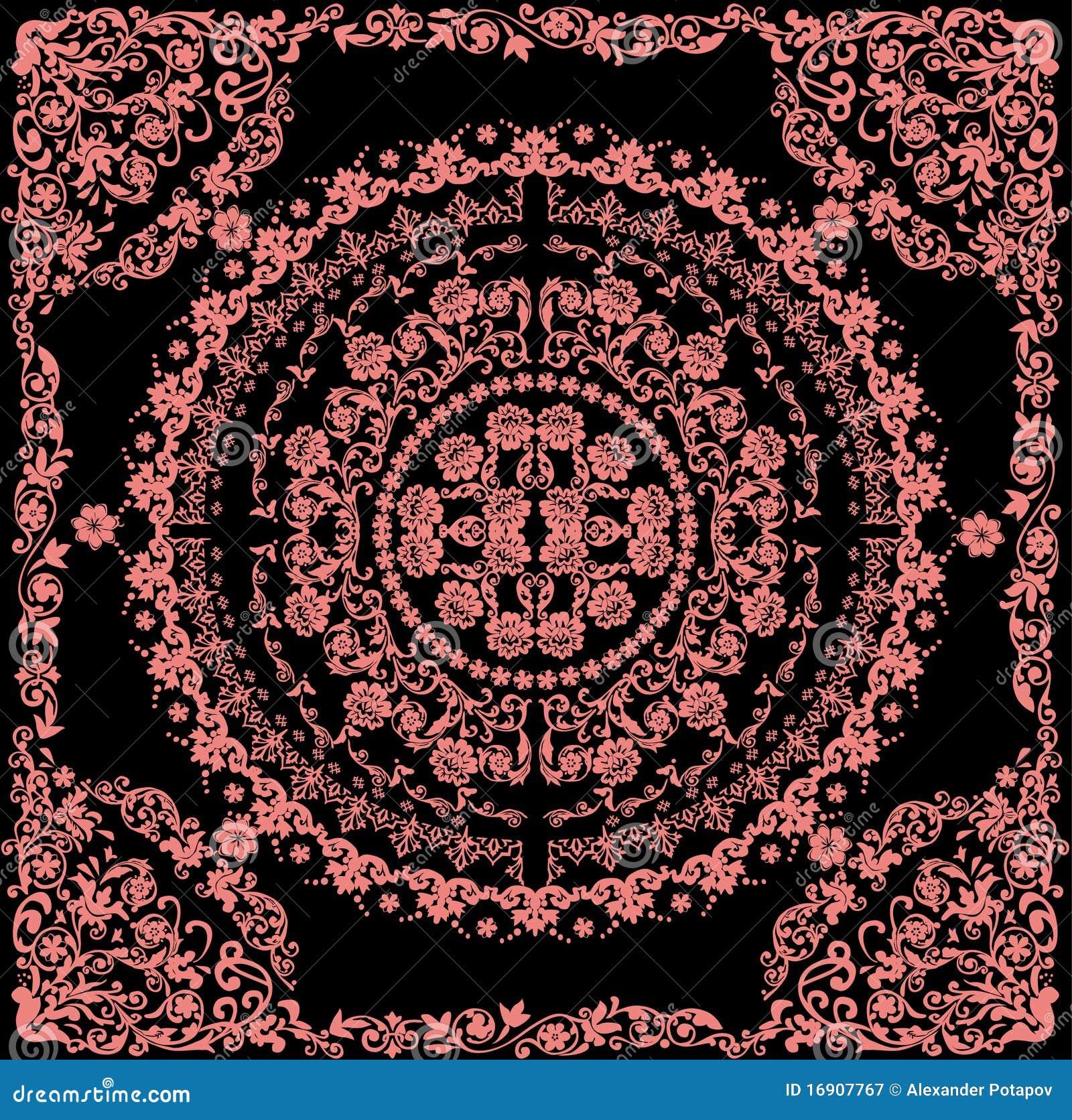 Rosafarbenes rundes Muster im Feld