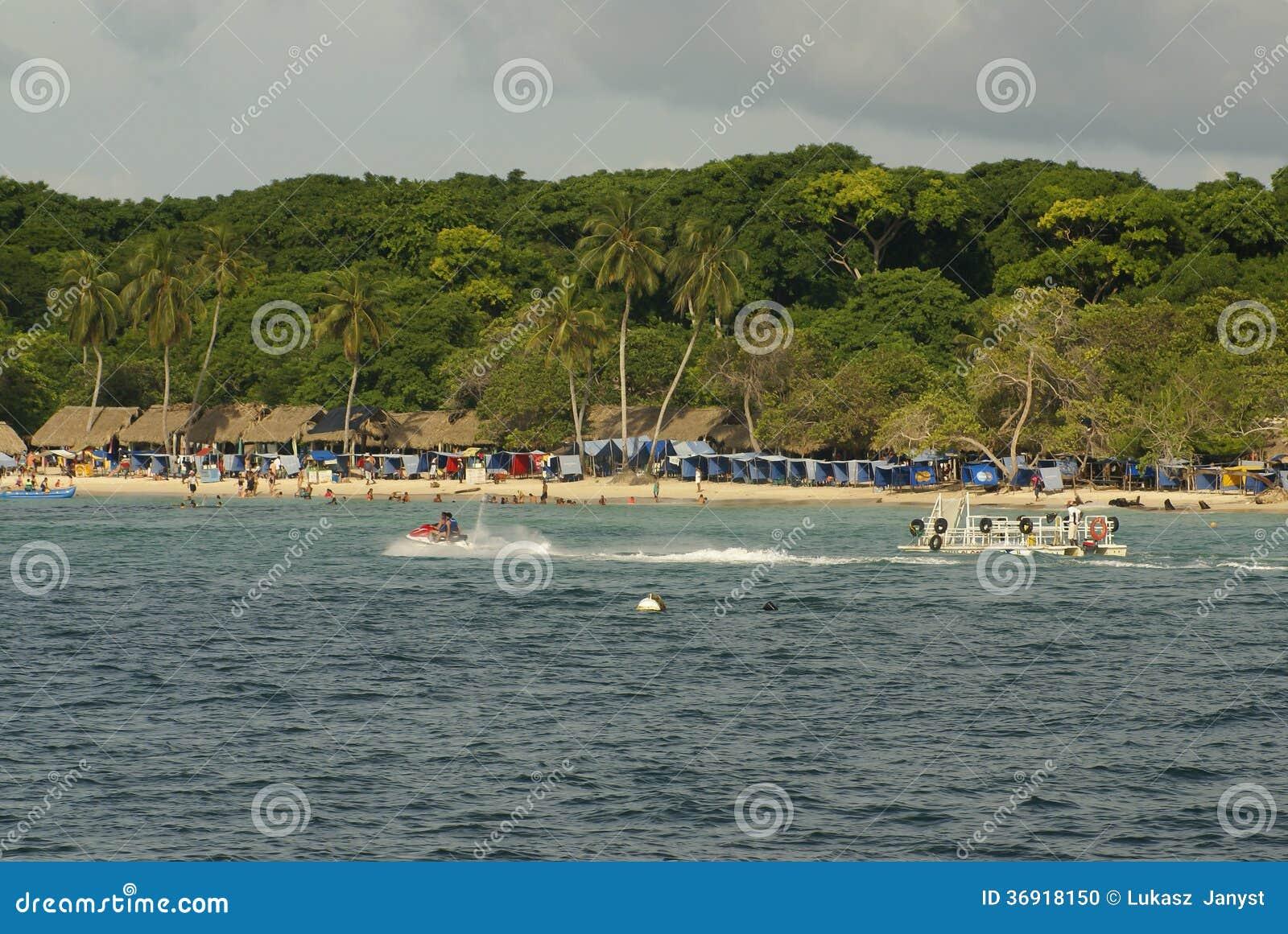 Rosario Islands is een archipel bestaand uit 27 die eilanden ongeveer twee uren door boot van Cartagena DE Indias, Colombia worden