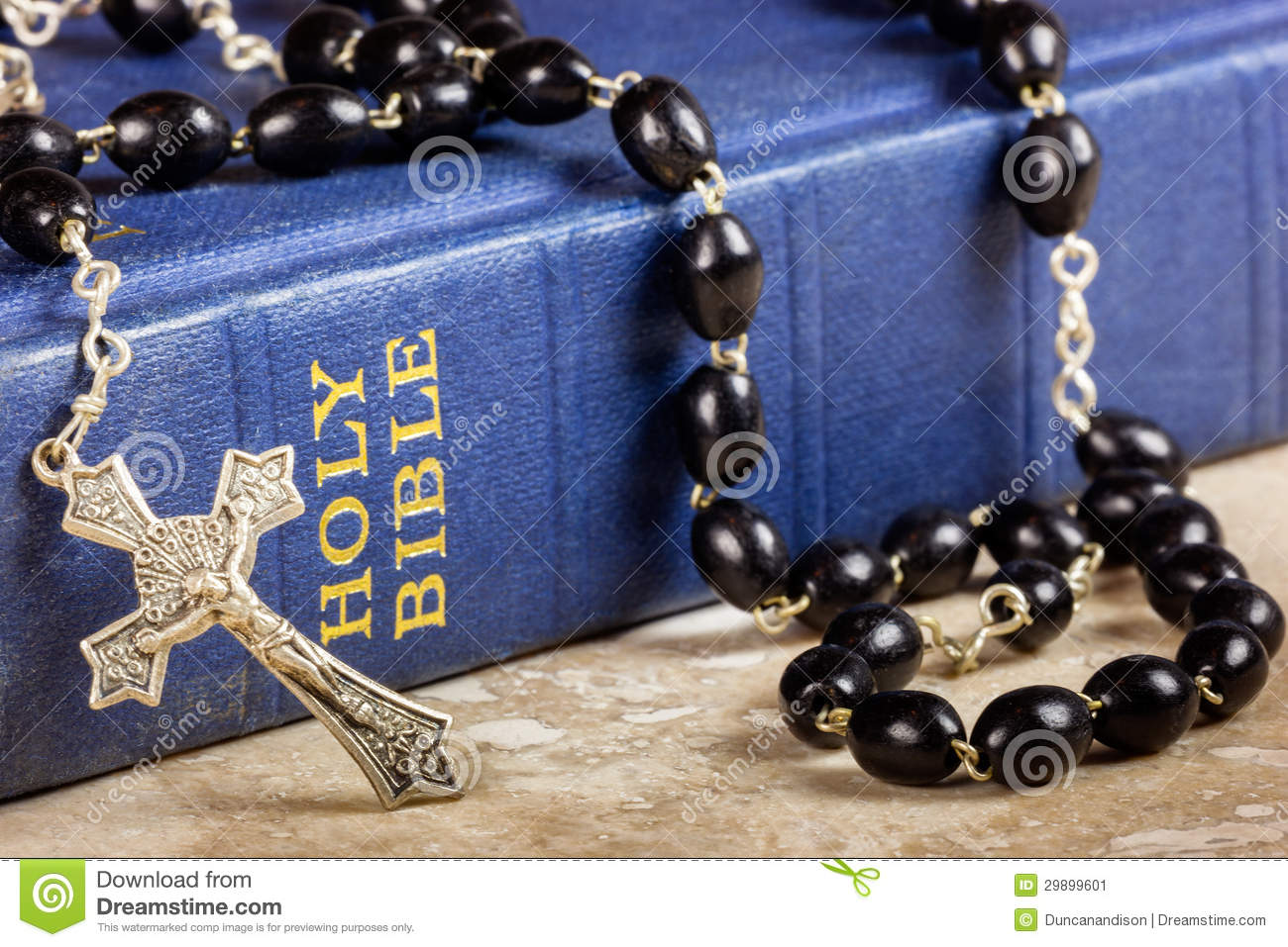 Rosary Beads, Cross And Bible Stock Image - Image: 29899601