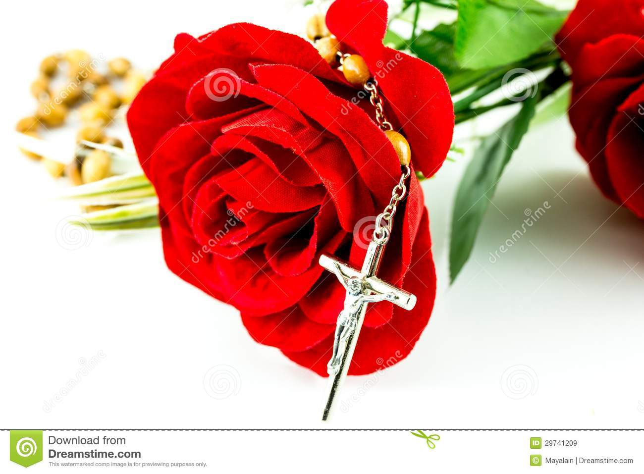 rosary and rose royalty free stock images image 29741209
