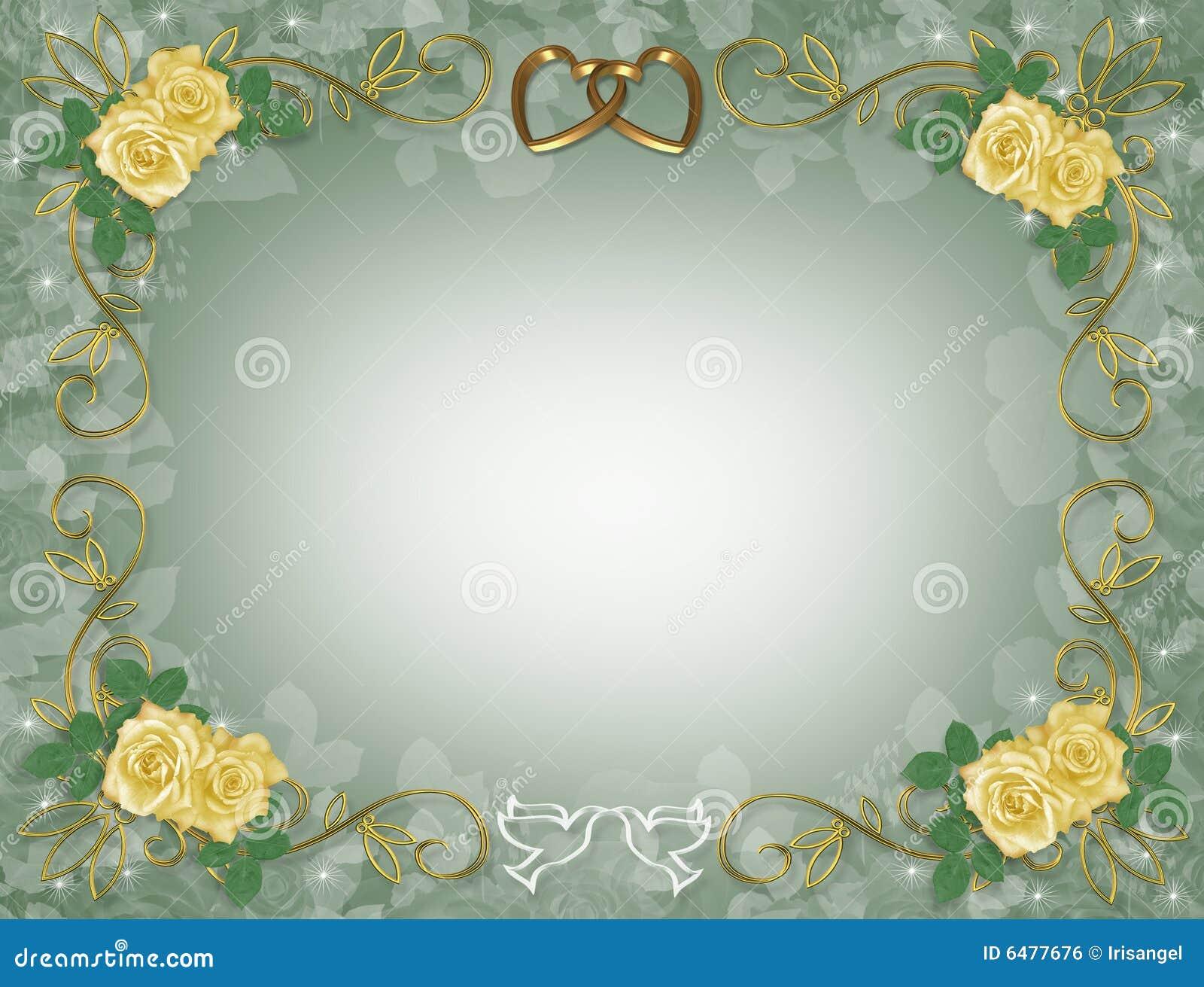 Rosas Amarelas Que Wedding Ou Convite Do Partido
