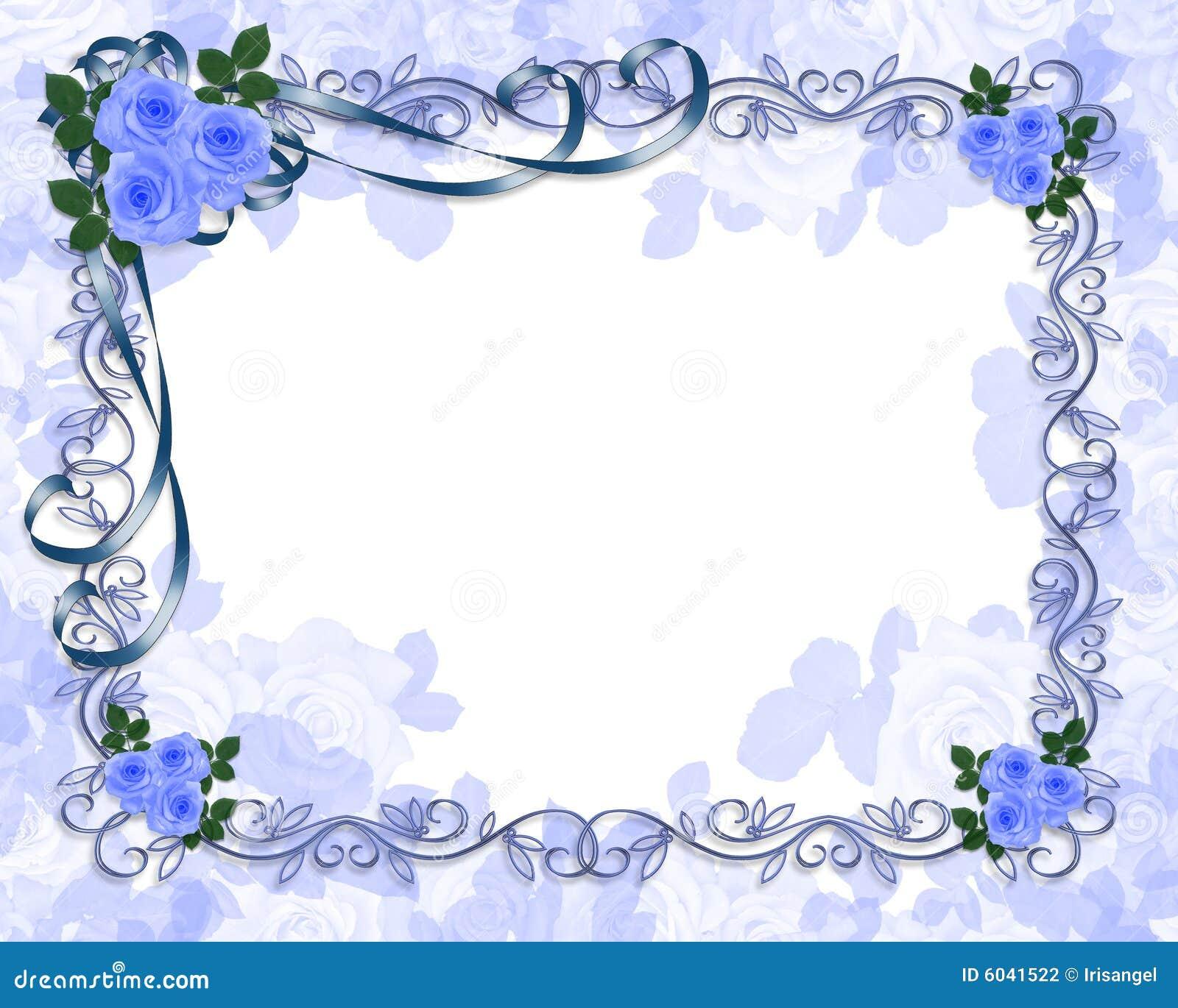 Rosas Azules Wedding La Invitación Stock de ilustración ...